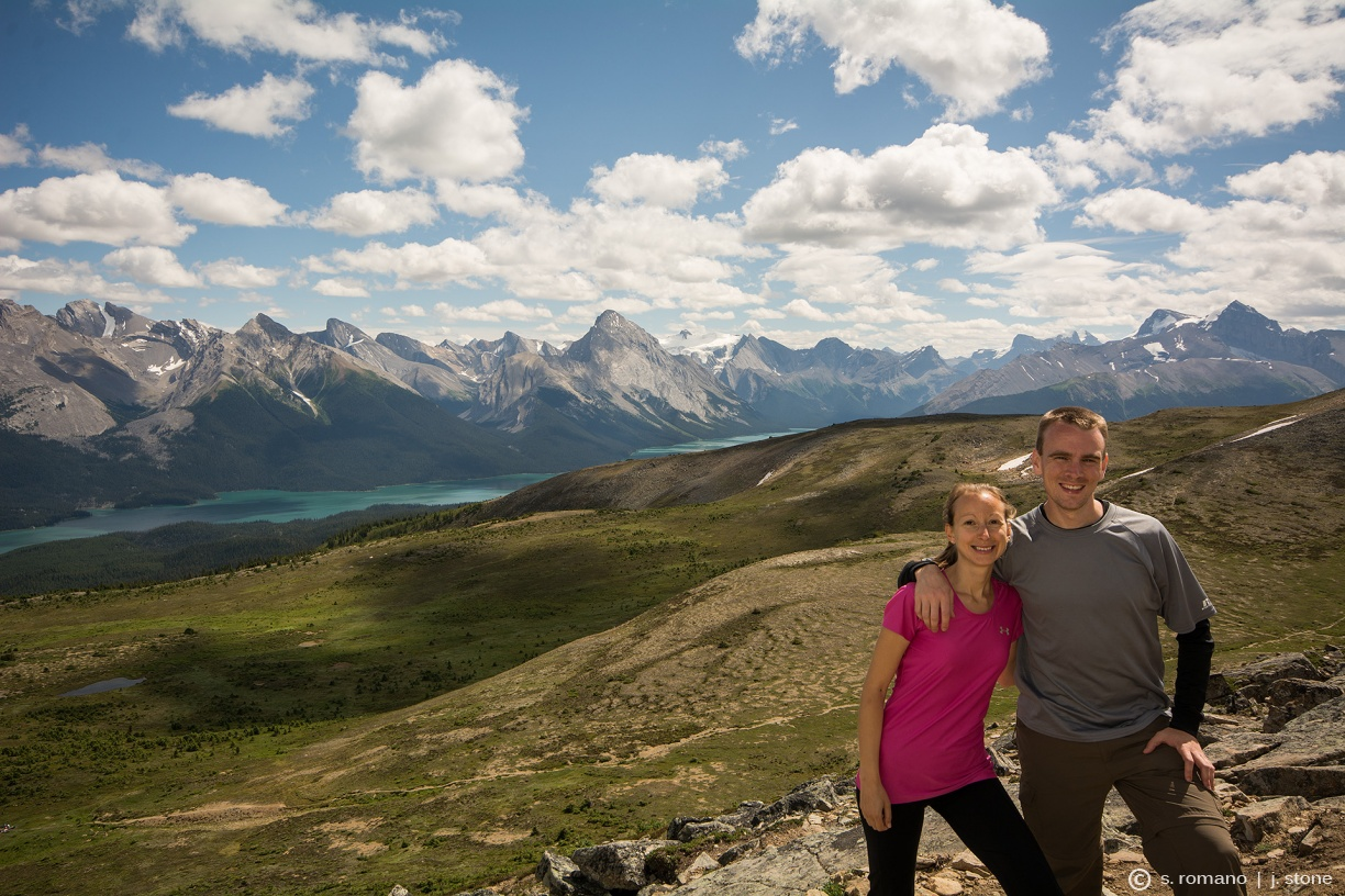 Queen Elizabeth Range, Maligne Mountain, Maligne Lake