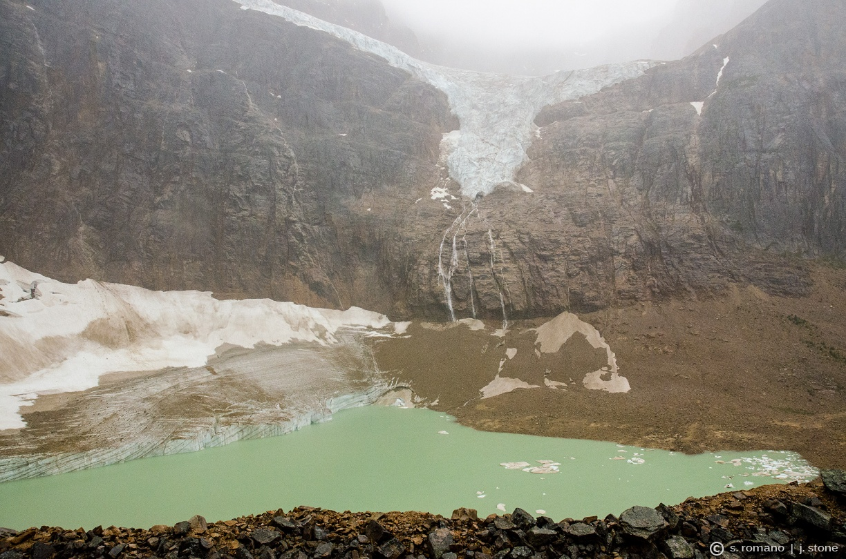 Angel Glacier (over Cavell Pond)