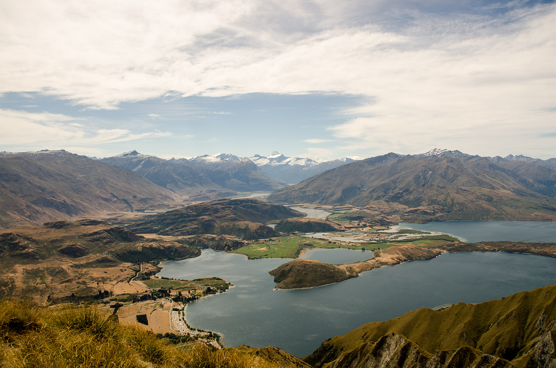 Mt. Aspiring, Lake Wanaka from Roy's Peak summit (5,177')