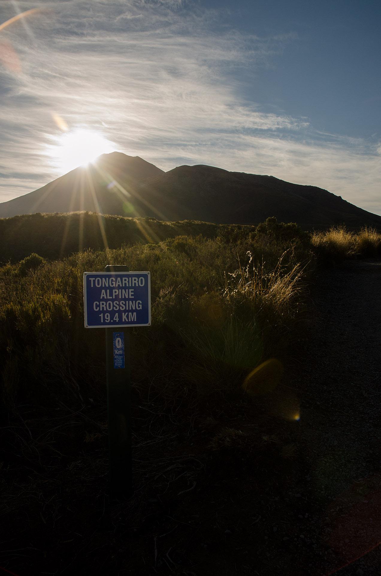 Tongariro Alpine Crossing Trailhead