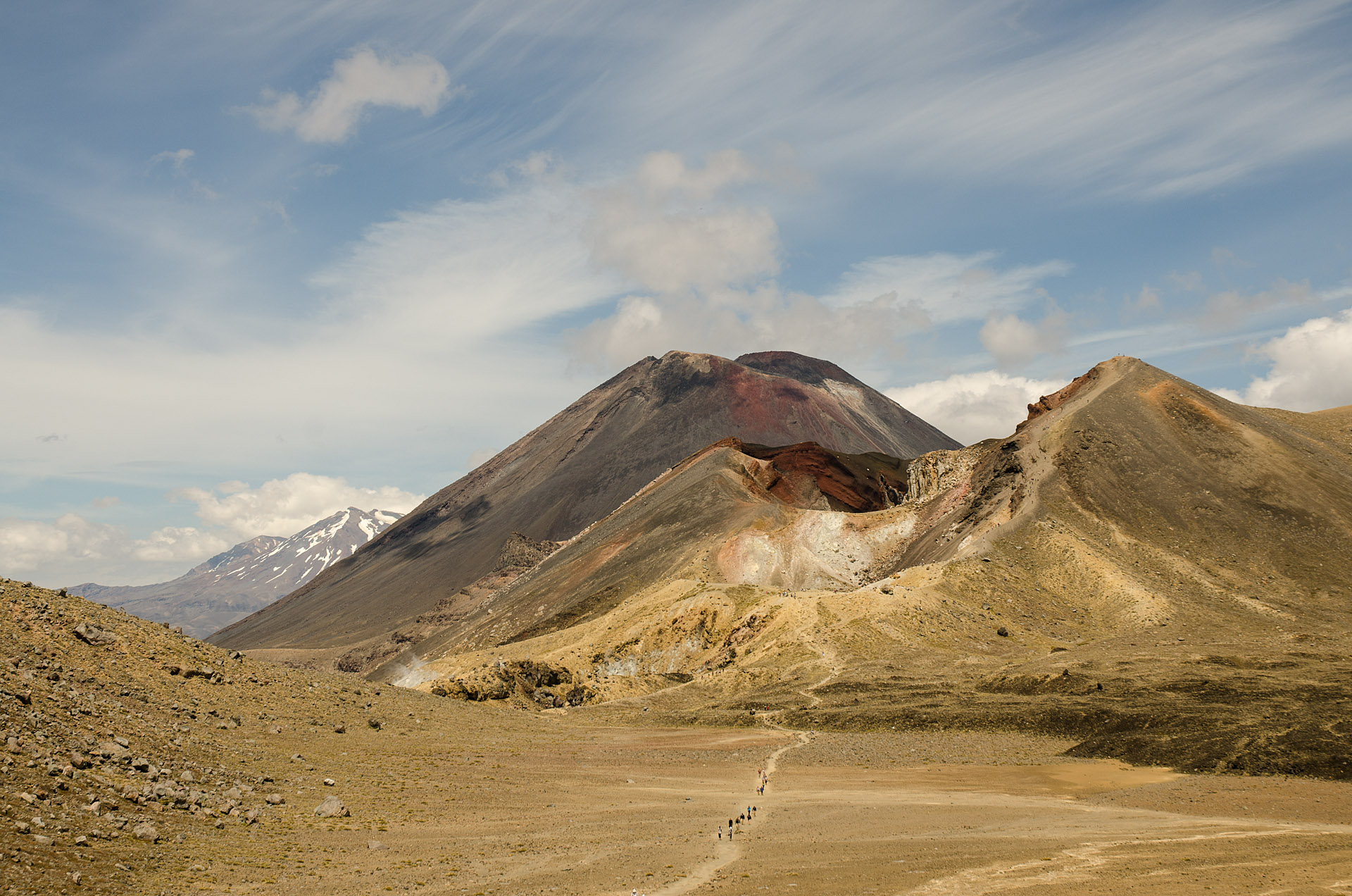 Red Crater, Mount Ngauruhoe & Mount Ruapehu