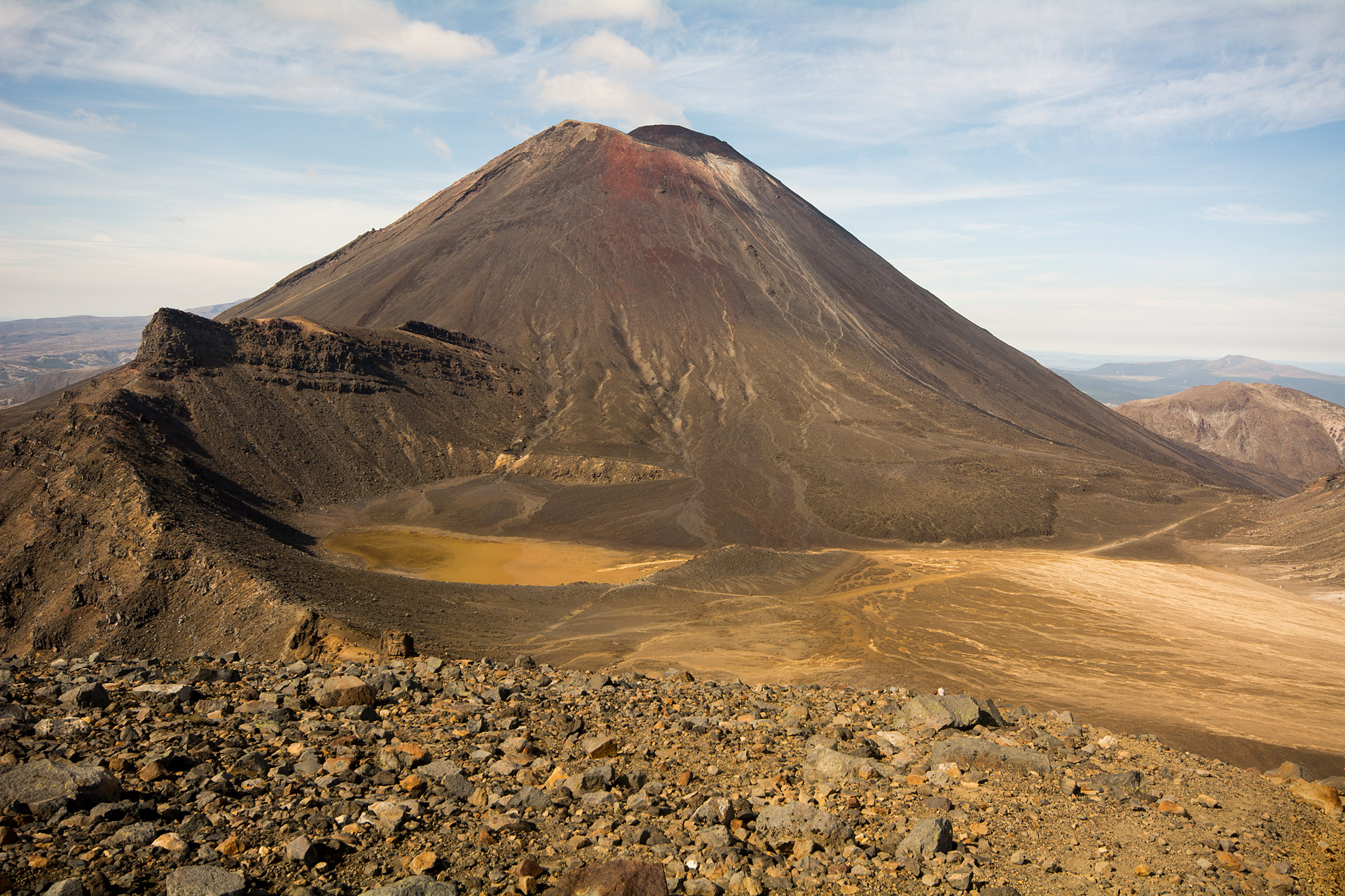 Mount Ngauruhoe overlooking South Crater
