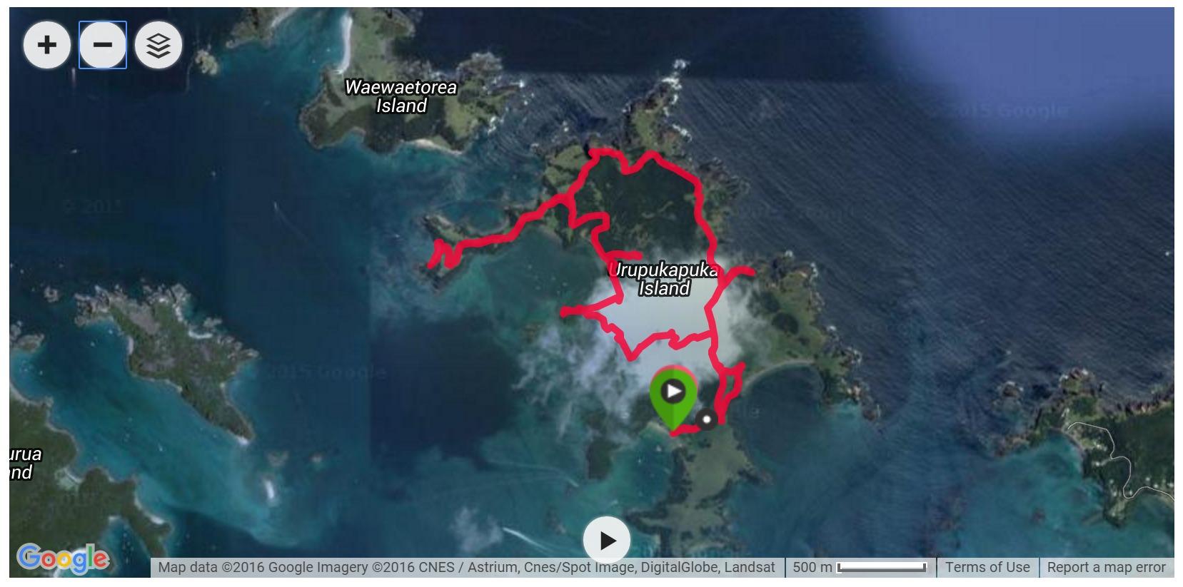 Urupukapuka Island Satellite