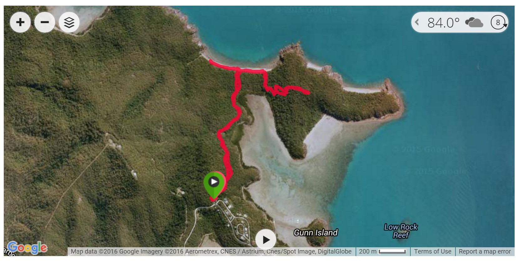 Coral Beach Track Satellite