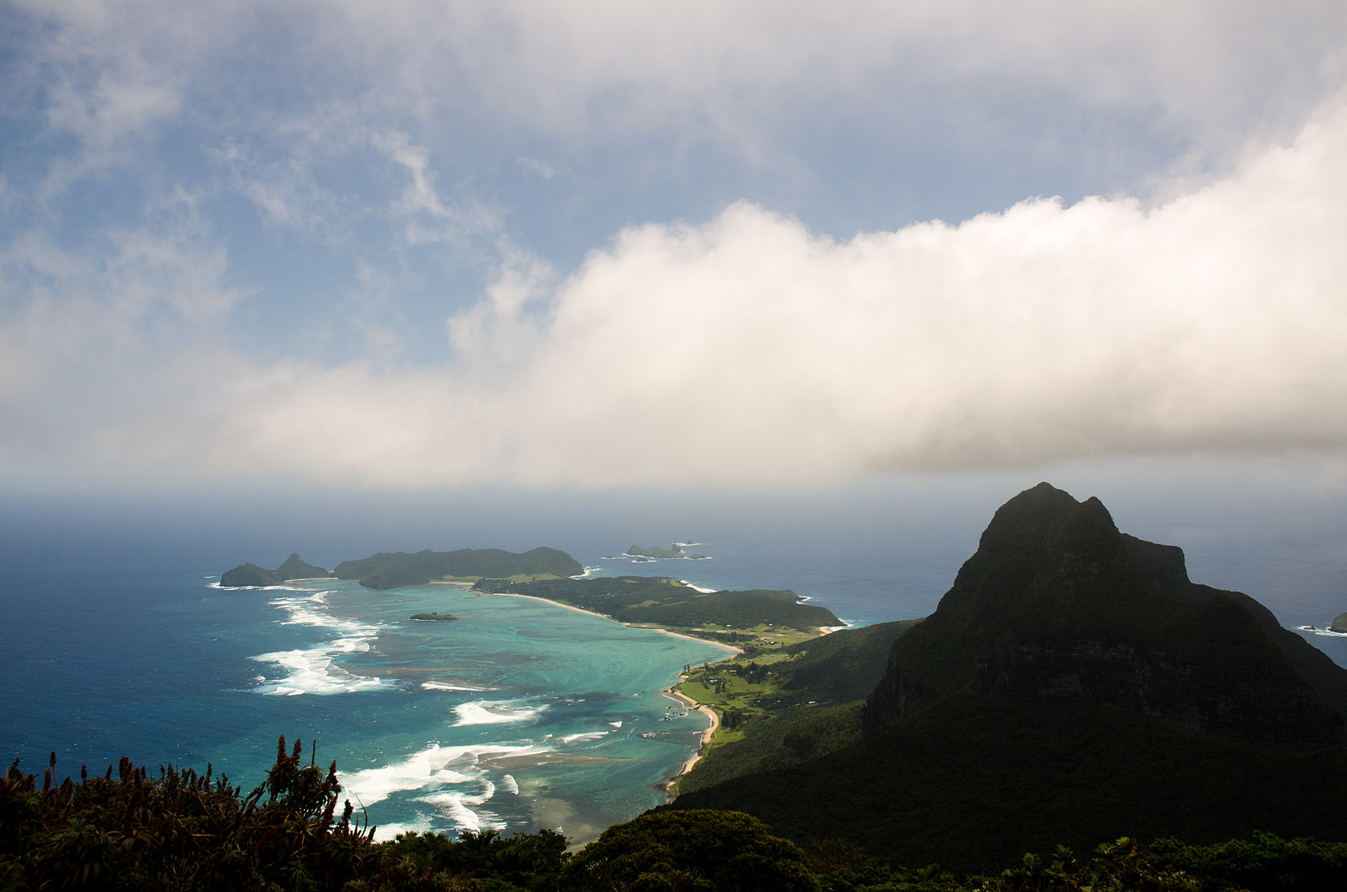 Lord Howe from Mount Gower summit