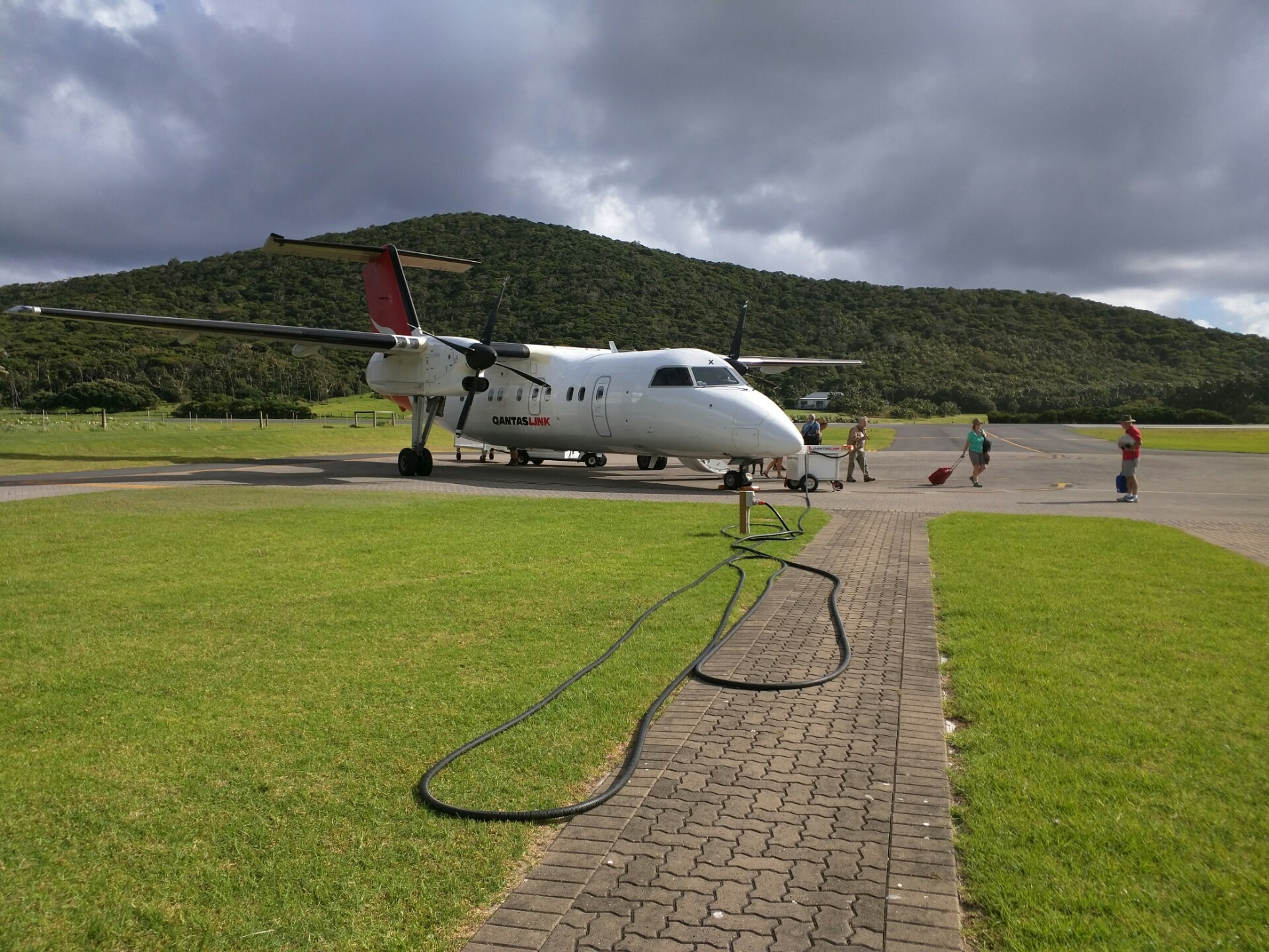 Our Dash-8 at the LHI Airstrip