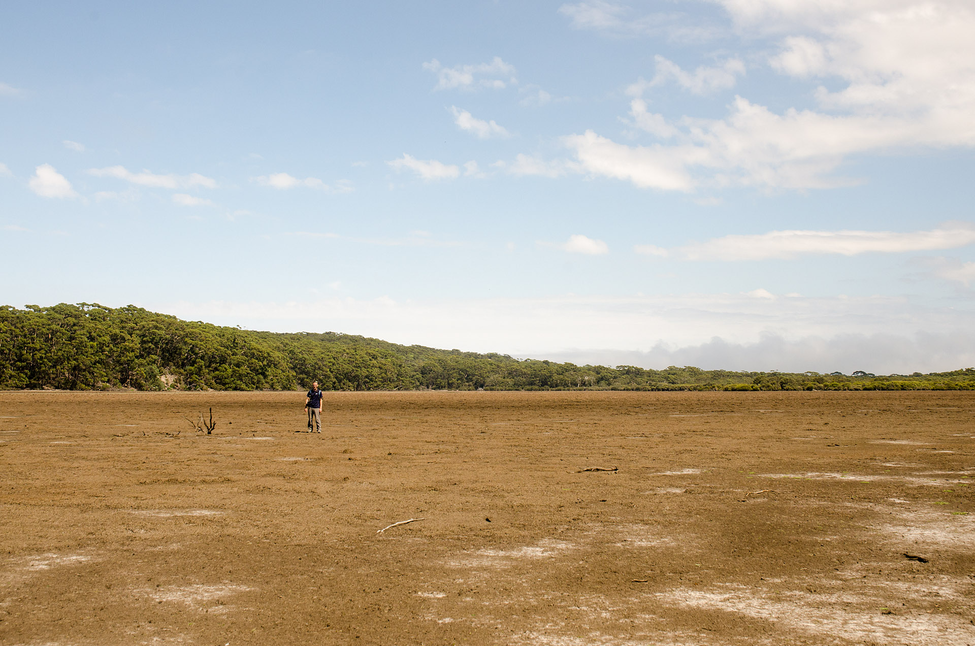 Stephan standing in Grassdale Lagoon