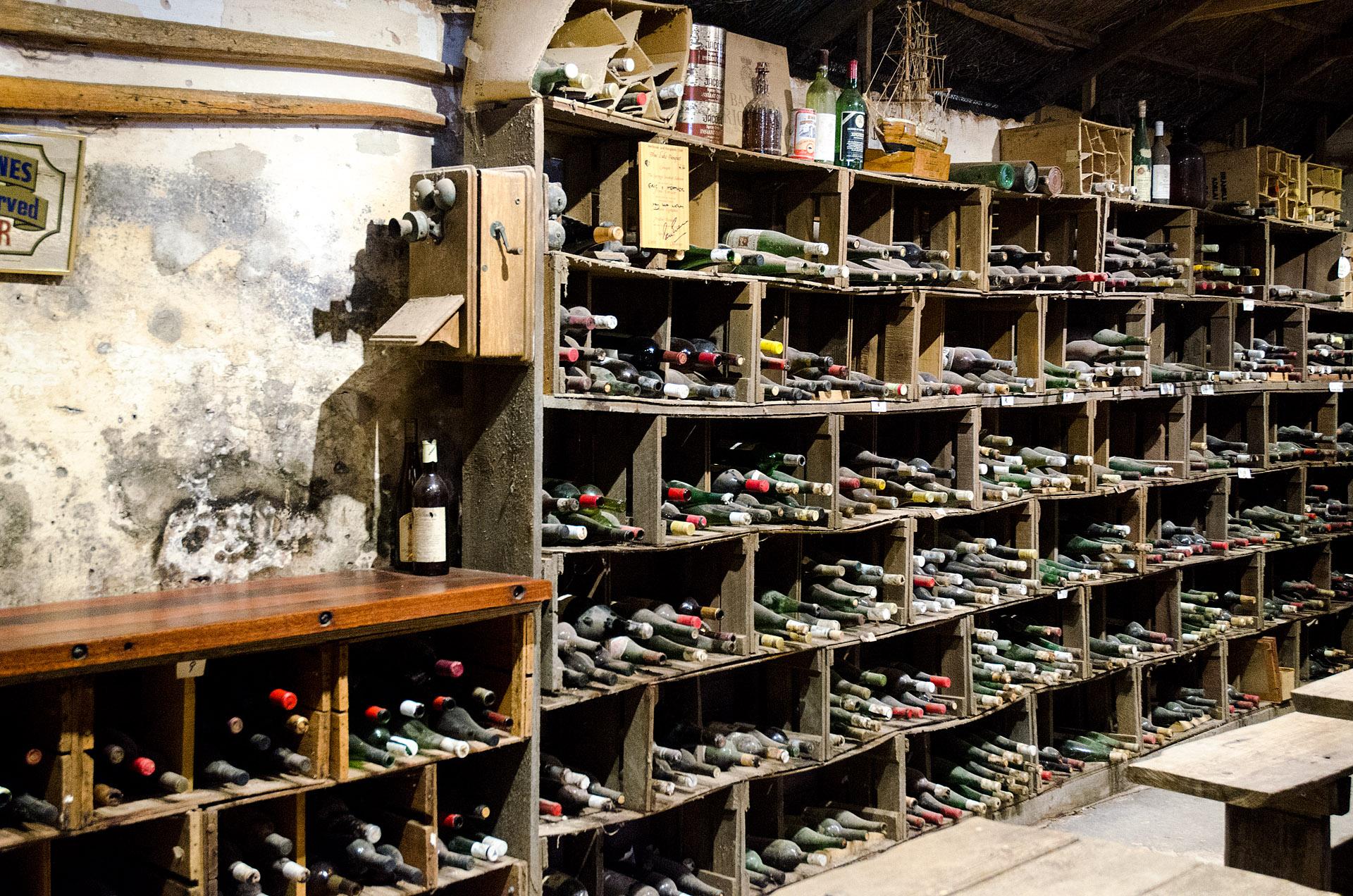 Brand's limestone cellar