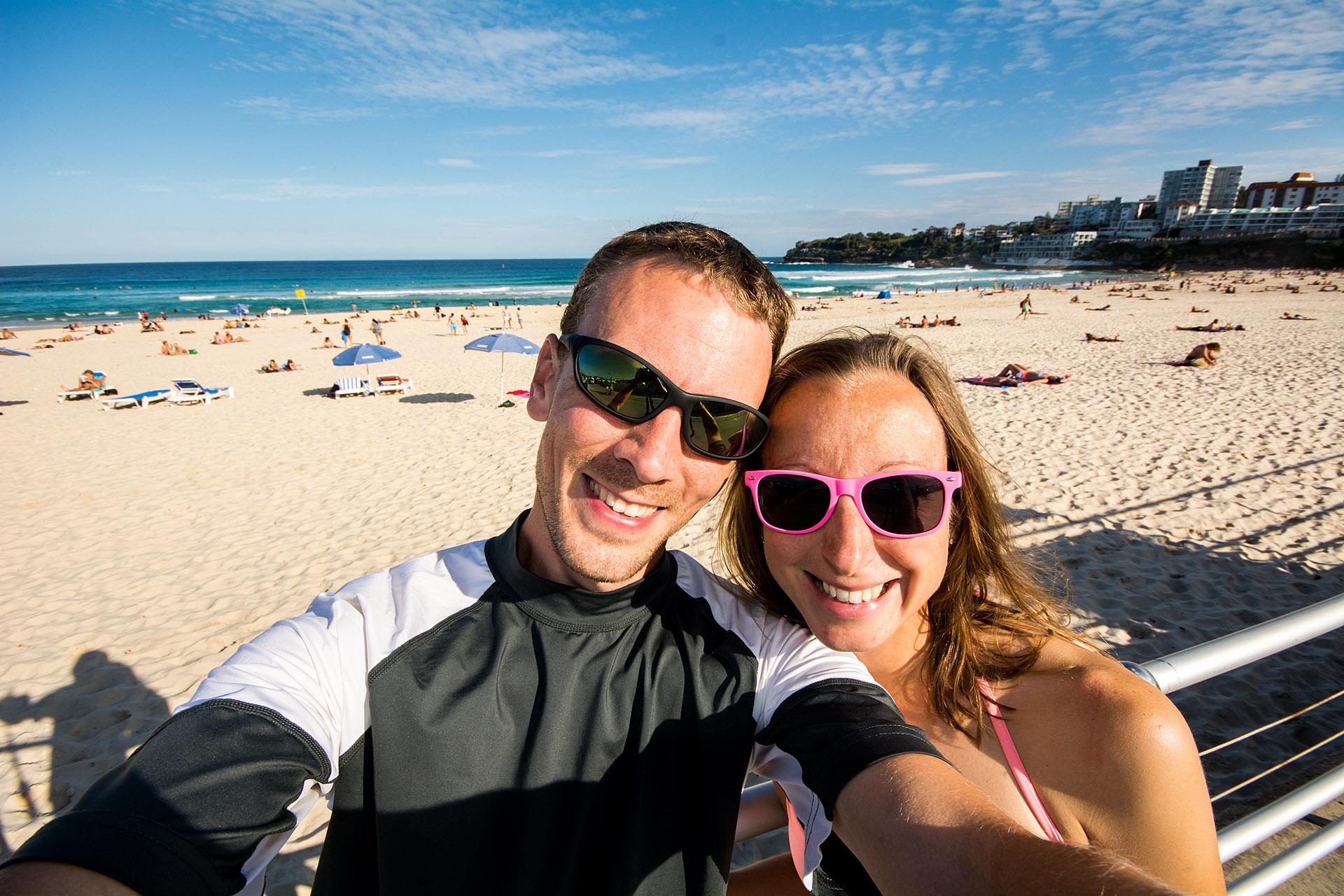 Post-surf lesson selfie at Bondi