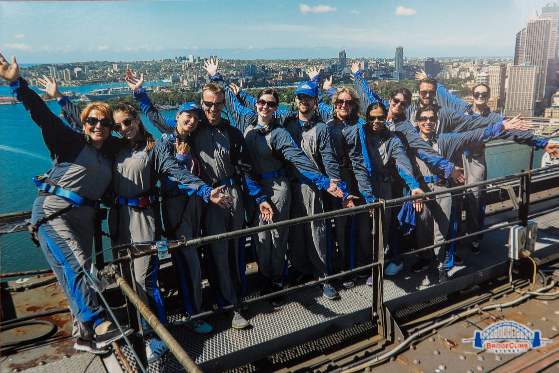Top of the Sydney Harbour Bridge
