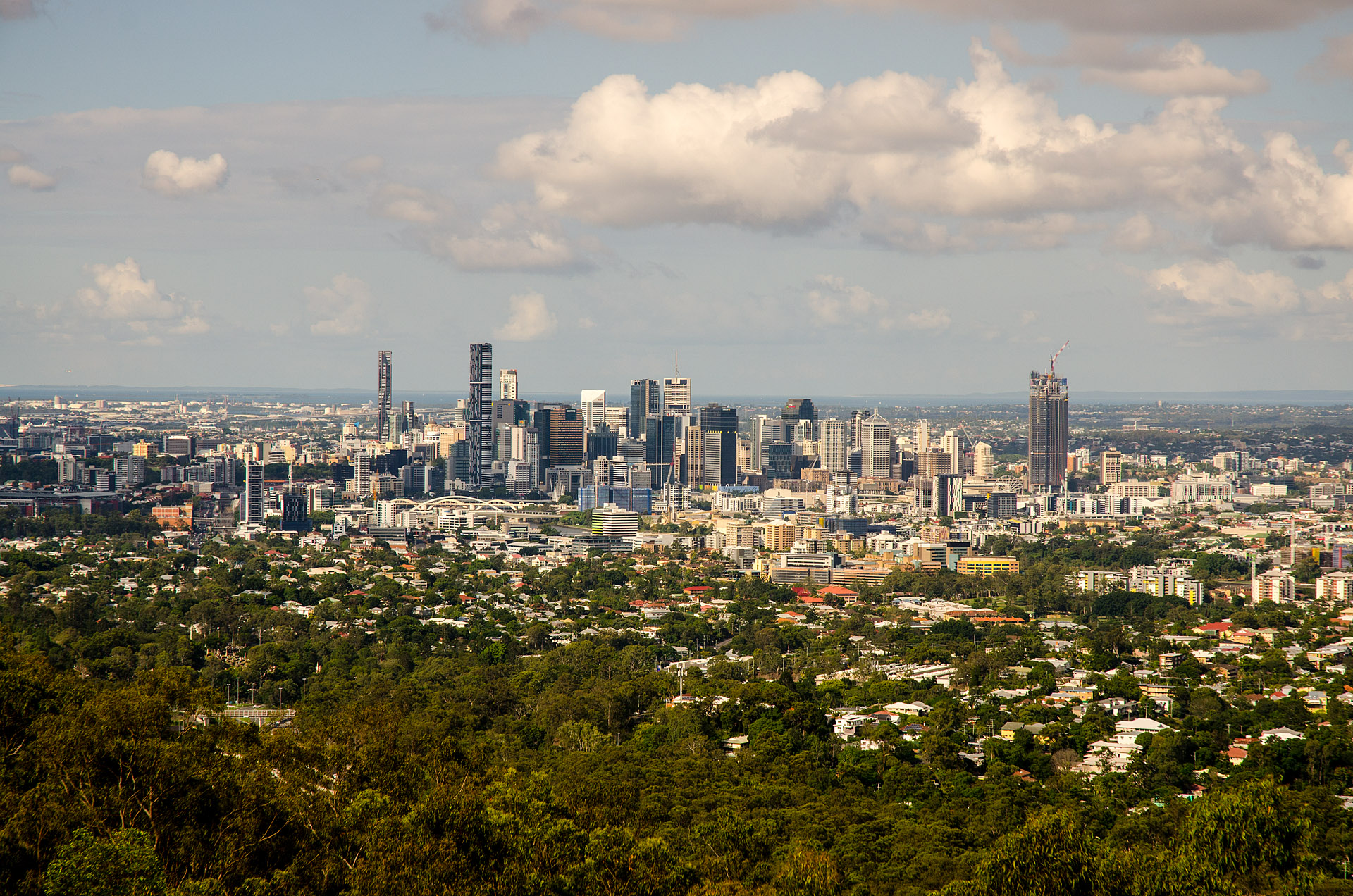 Brisbane skyline from Mt. Coot-tha