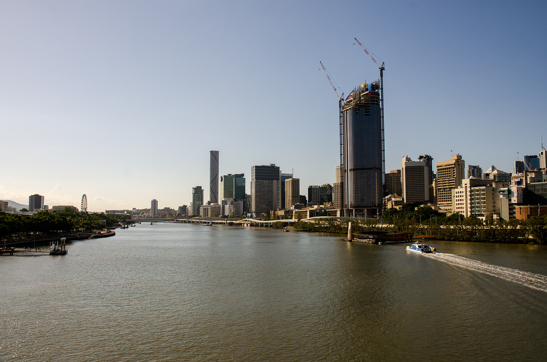 Downtown Brisbane from the Goodwill Bridge