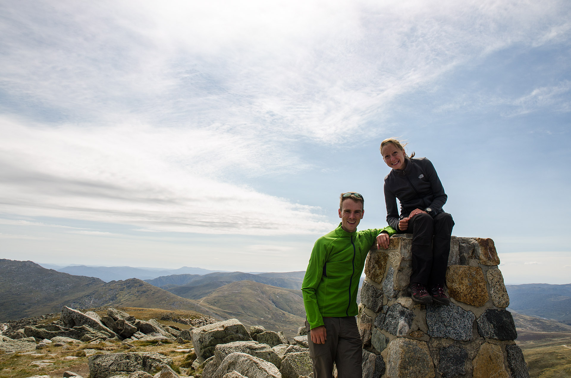 Mt. Kosciuszko summit (7,310 feet)