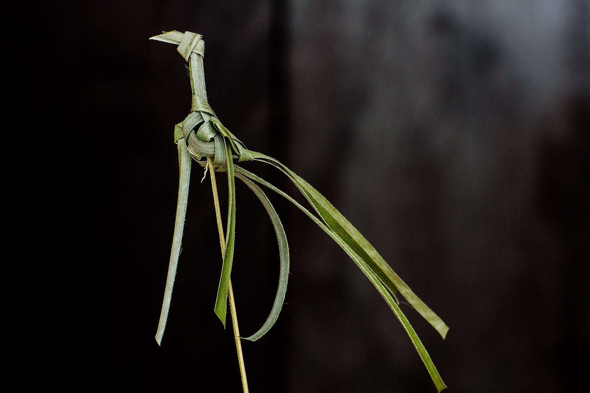 Coconut leaf crane