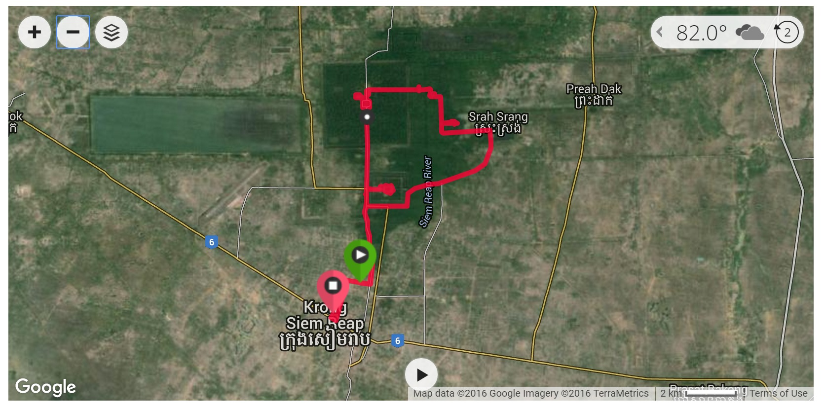 Angkor Wat Cycling (Day 1) - Satellite