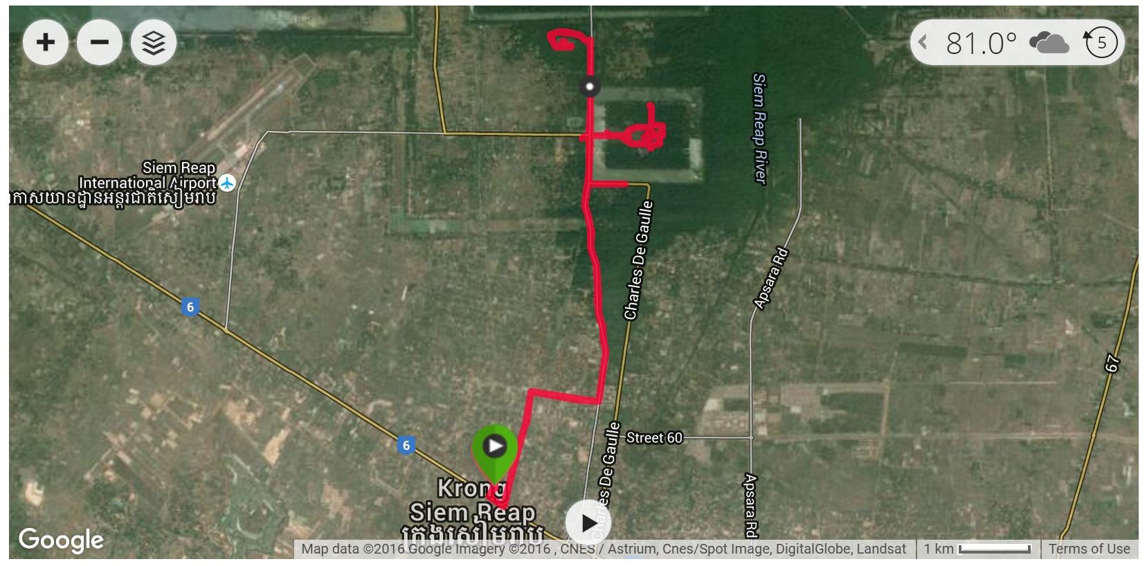 Angkor Wat Cycling (Day 2) - Satellite