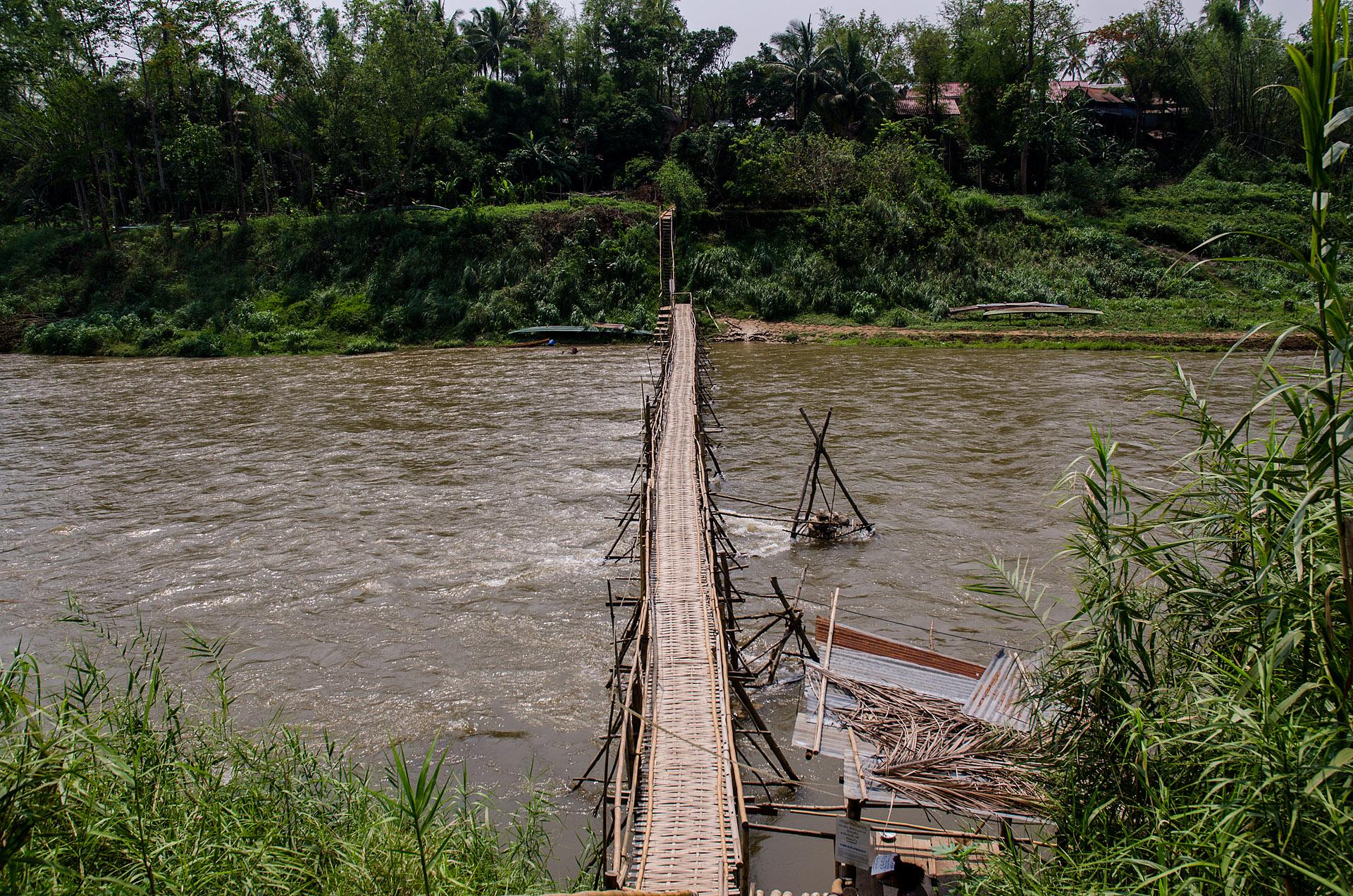 Seasonal bamboo bridges