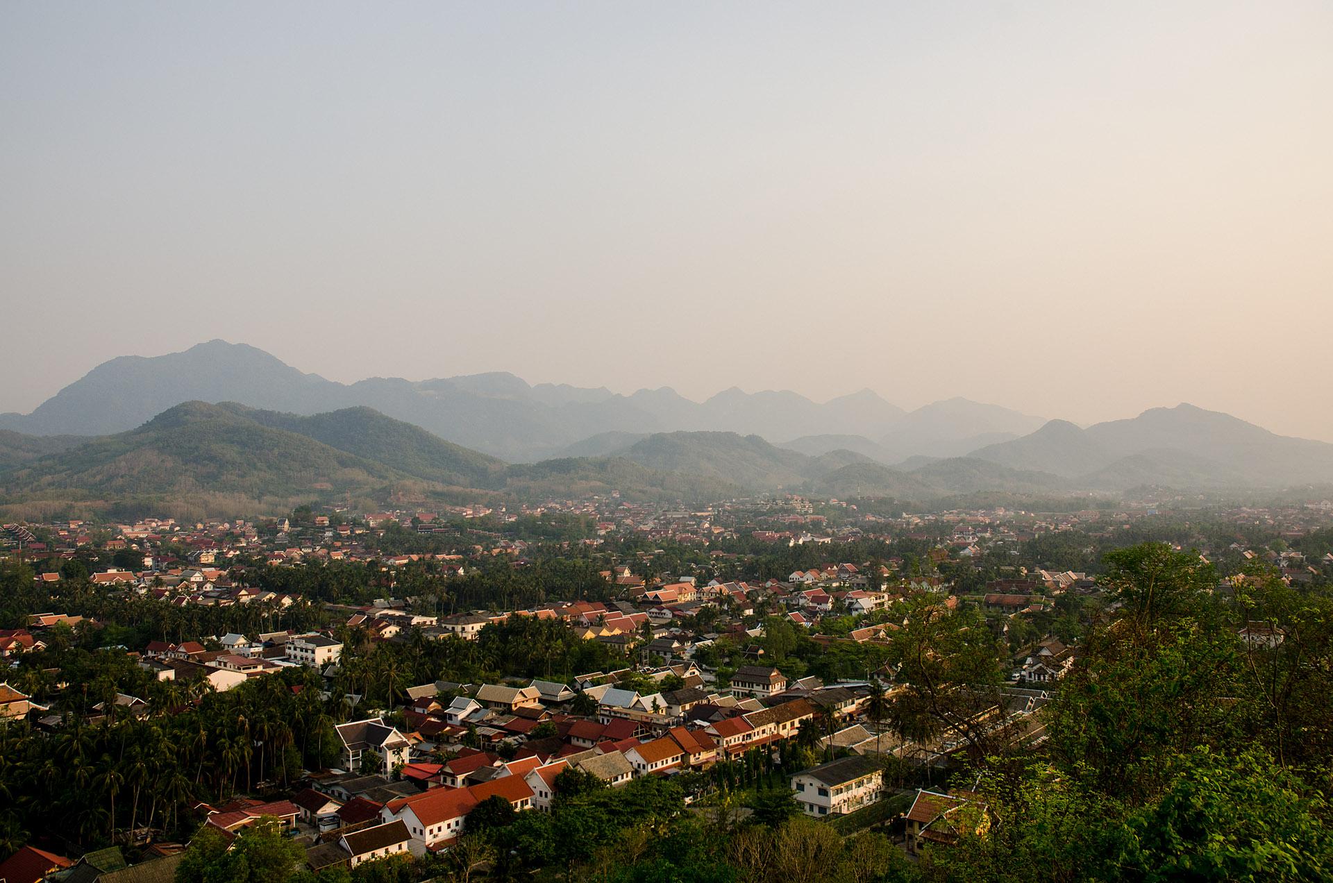 Luang Prabang from Mount Phousi