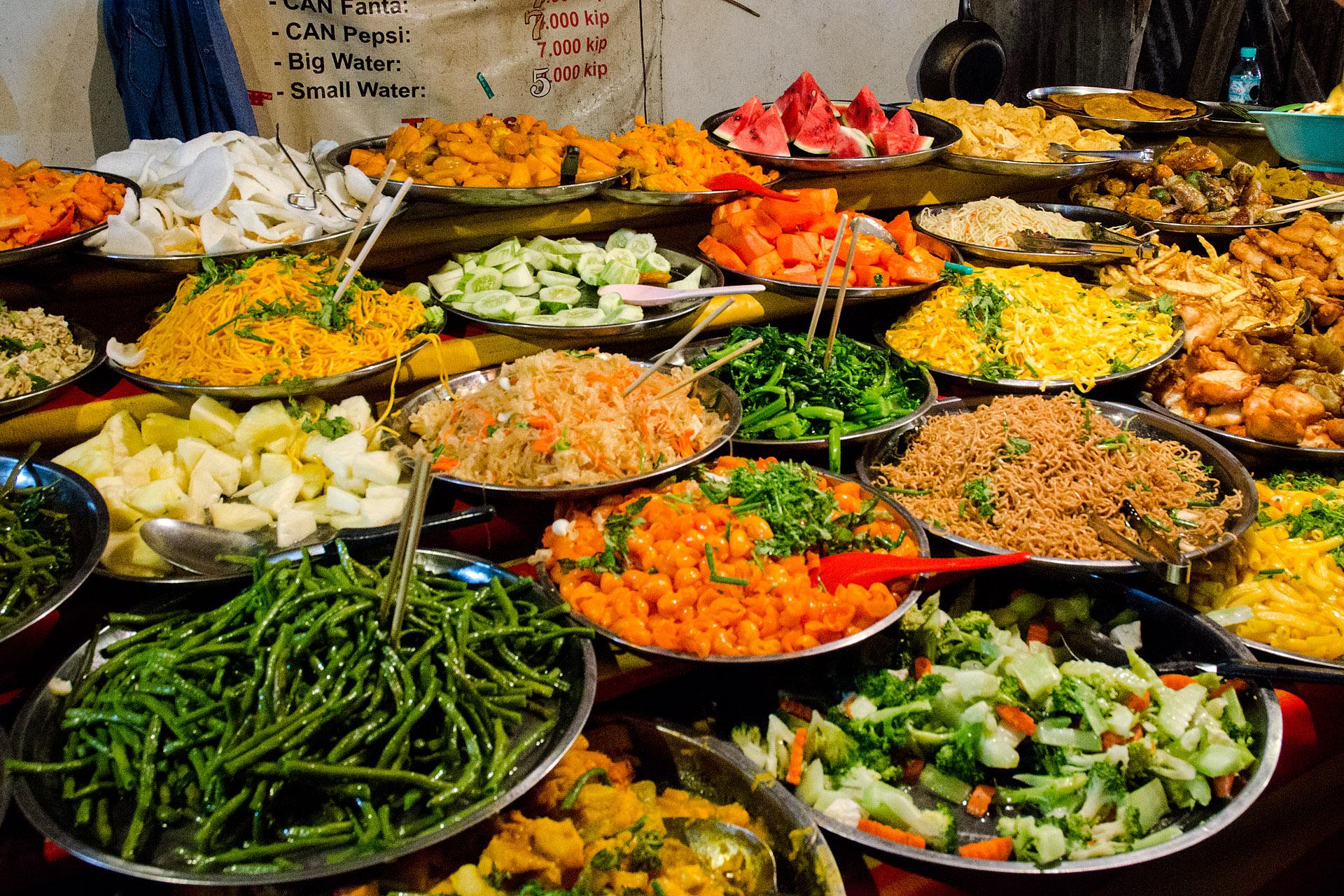 Street food buffet