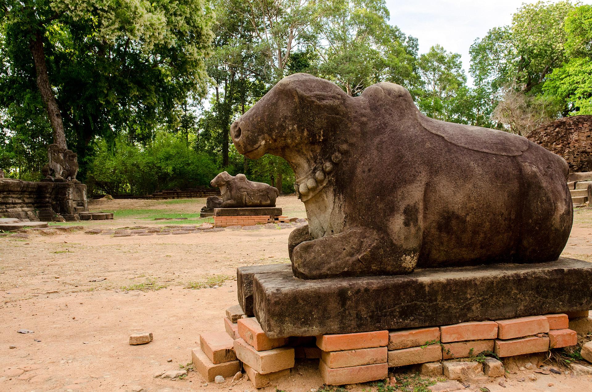 Nandi (sacred bull) at Preah Ko