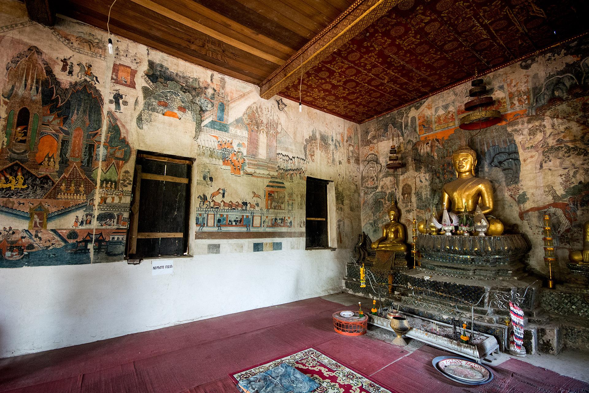 Wat Pa Huak, frescoes from 1860s