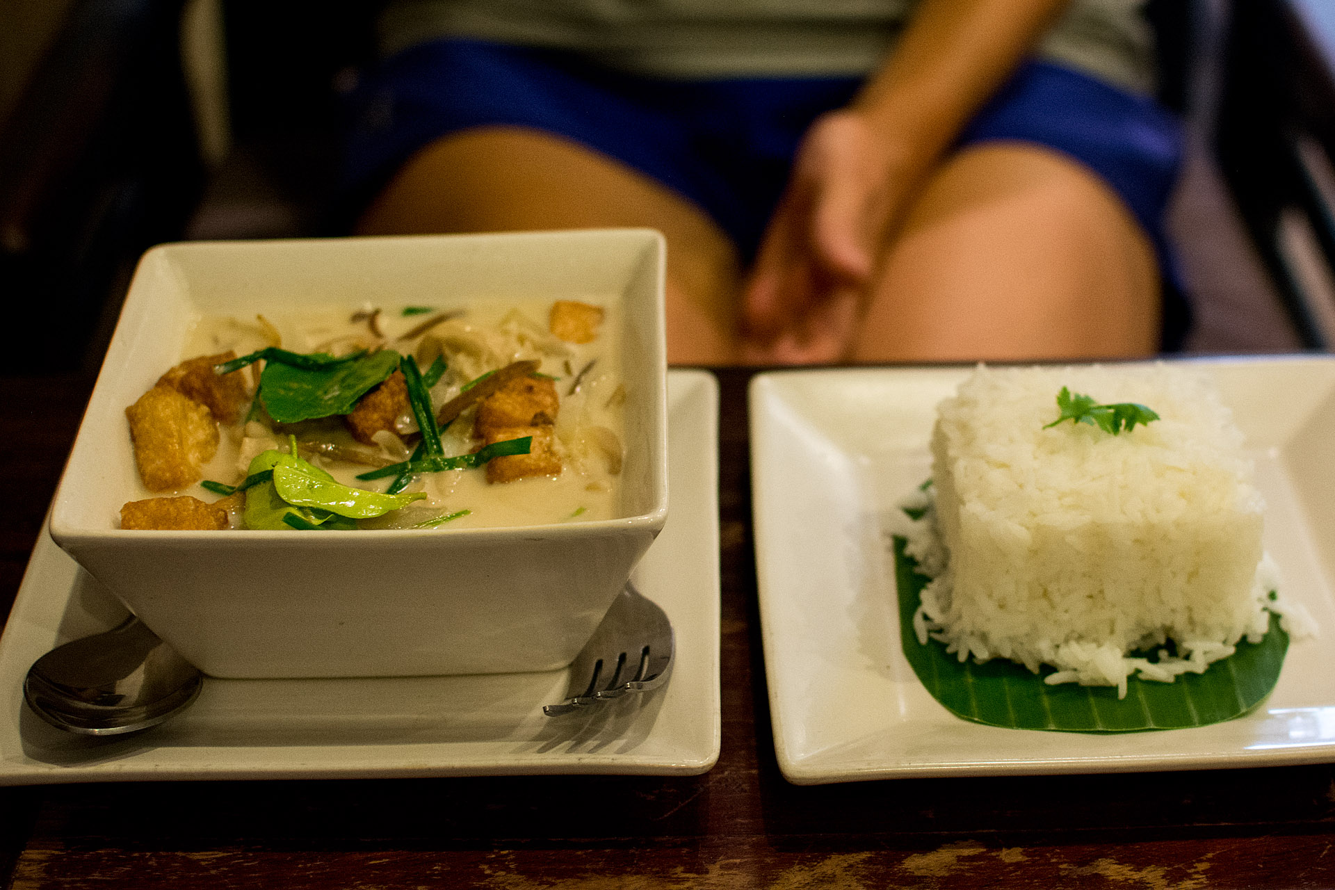 Khoa Khing Taohu (coconut milk, ginger, onion & herbs) (Indigo Cafe)