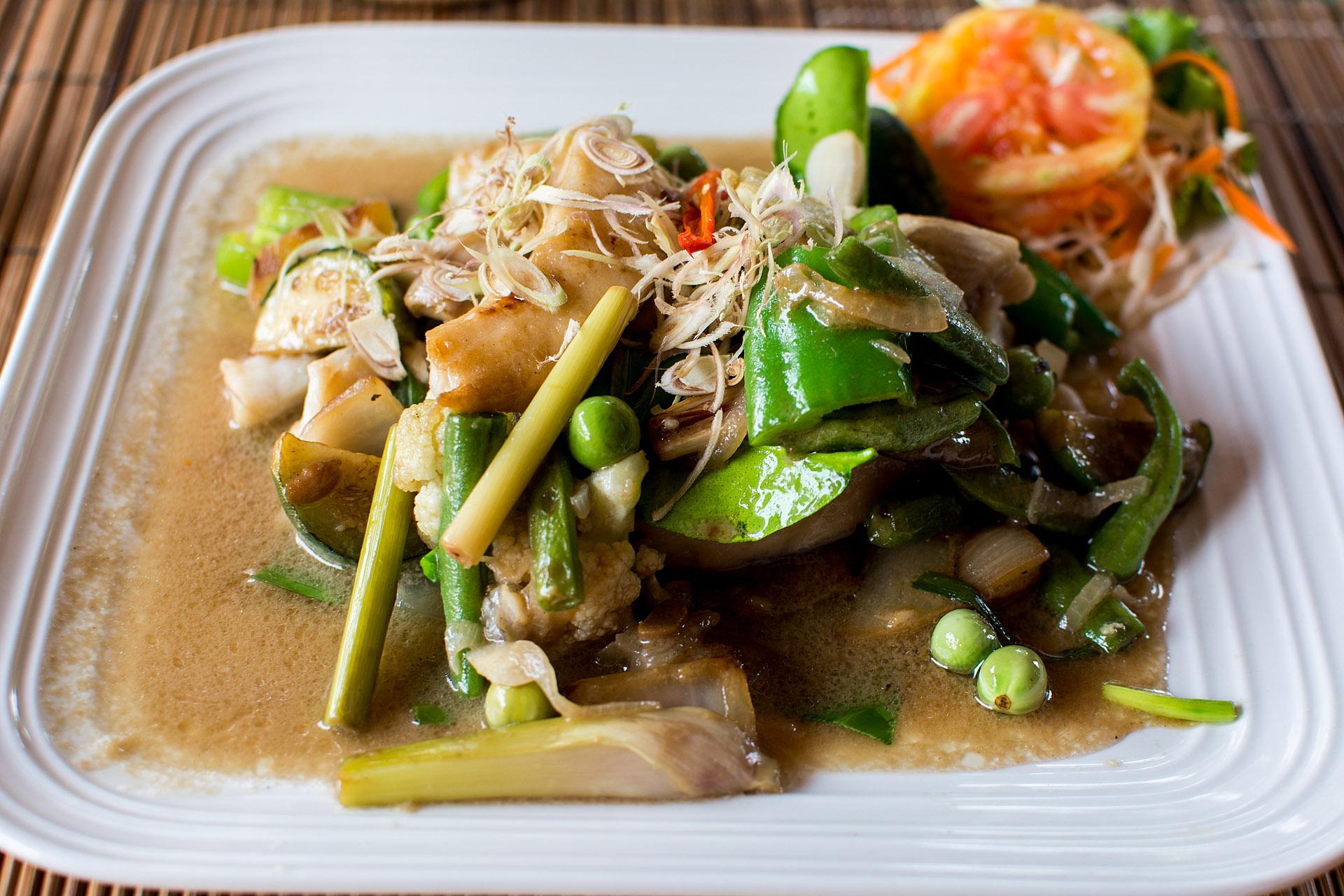 Mekong Catfish w/ citronella, lemongrass & chili wood (Bamboo Tree)