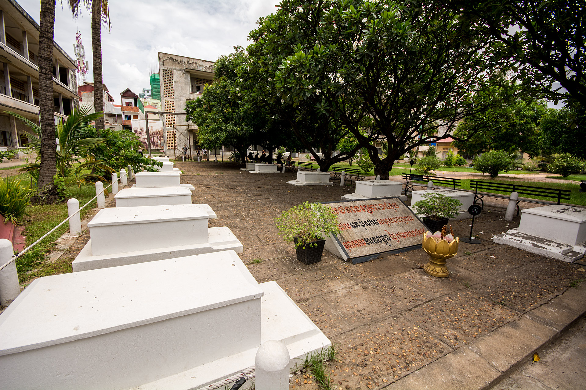 Graves of the final fourteen victims