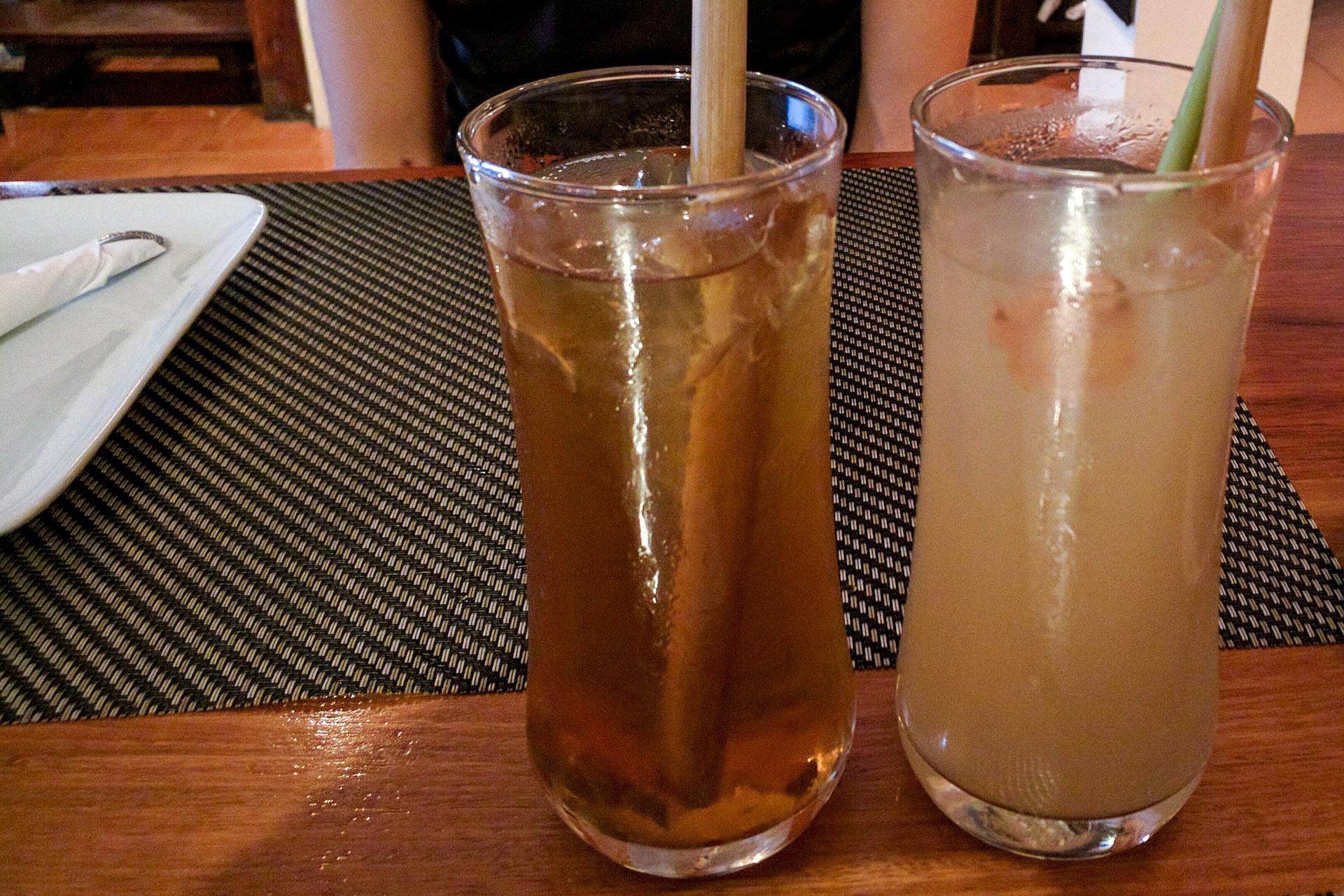 Bengal quince iced tea, lemongrass & ginger juice (Tamarind)