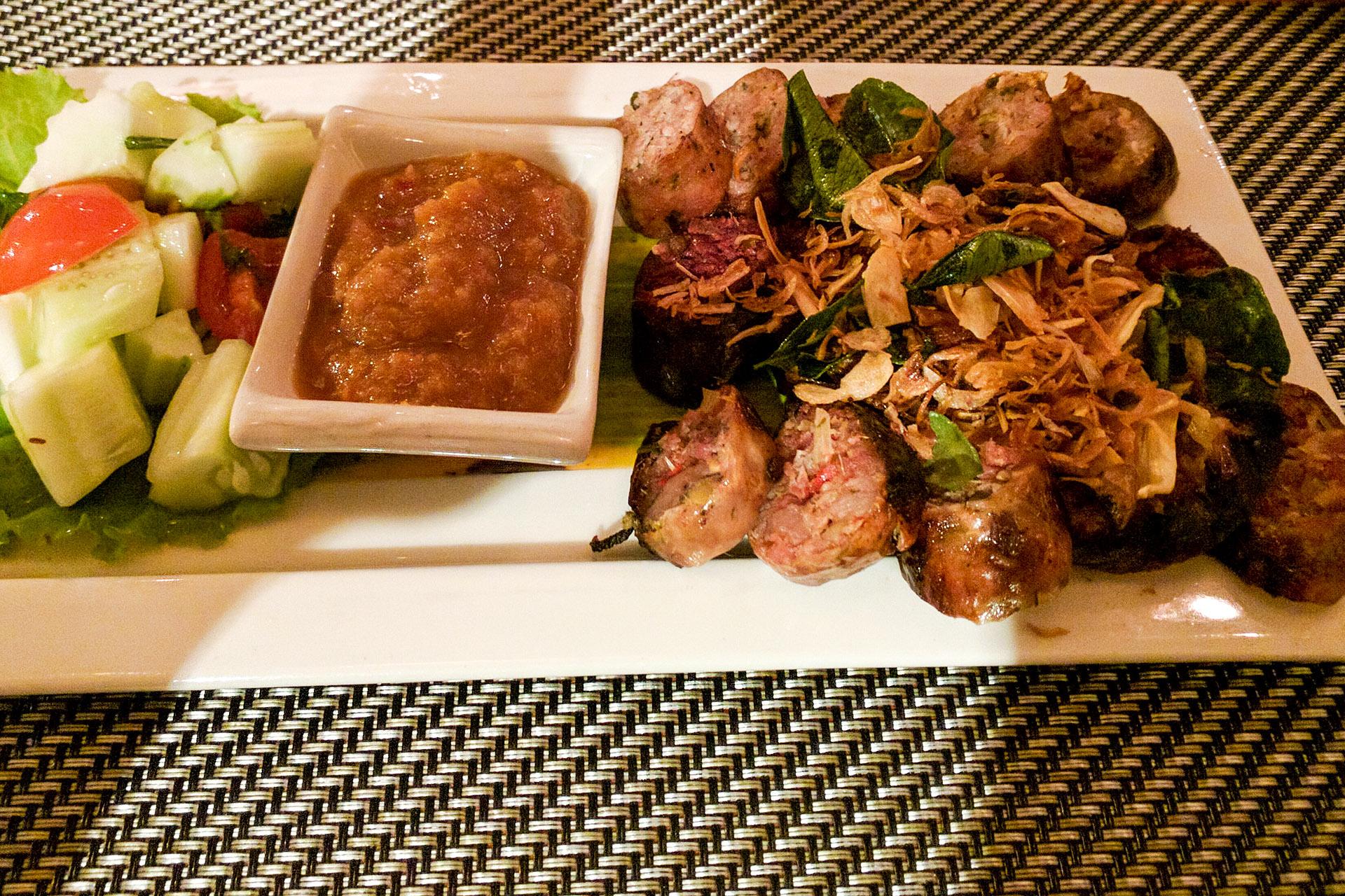 Luang Prabang sausage trio (sai oua) (Tamarind)