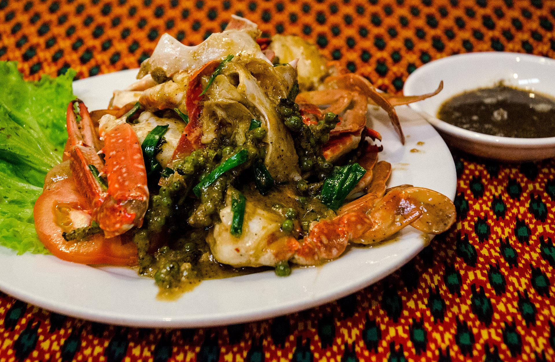 Kep crab w/ Kampot pepper & lime