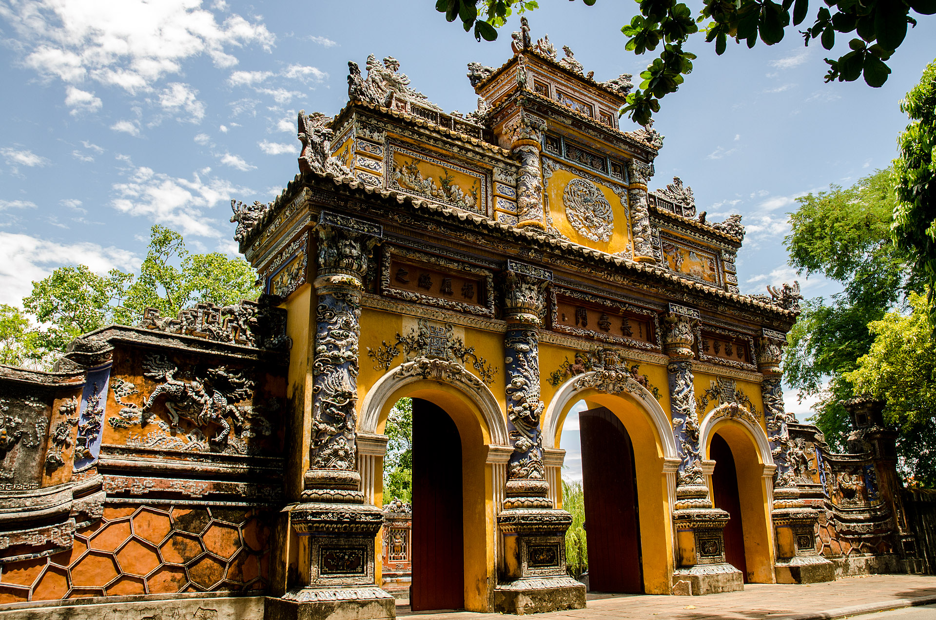 Gate to Truong Sanh Residence