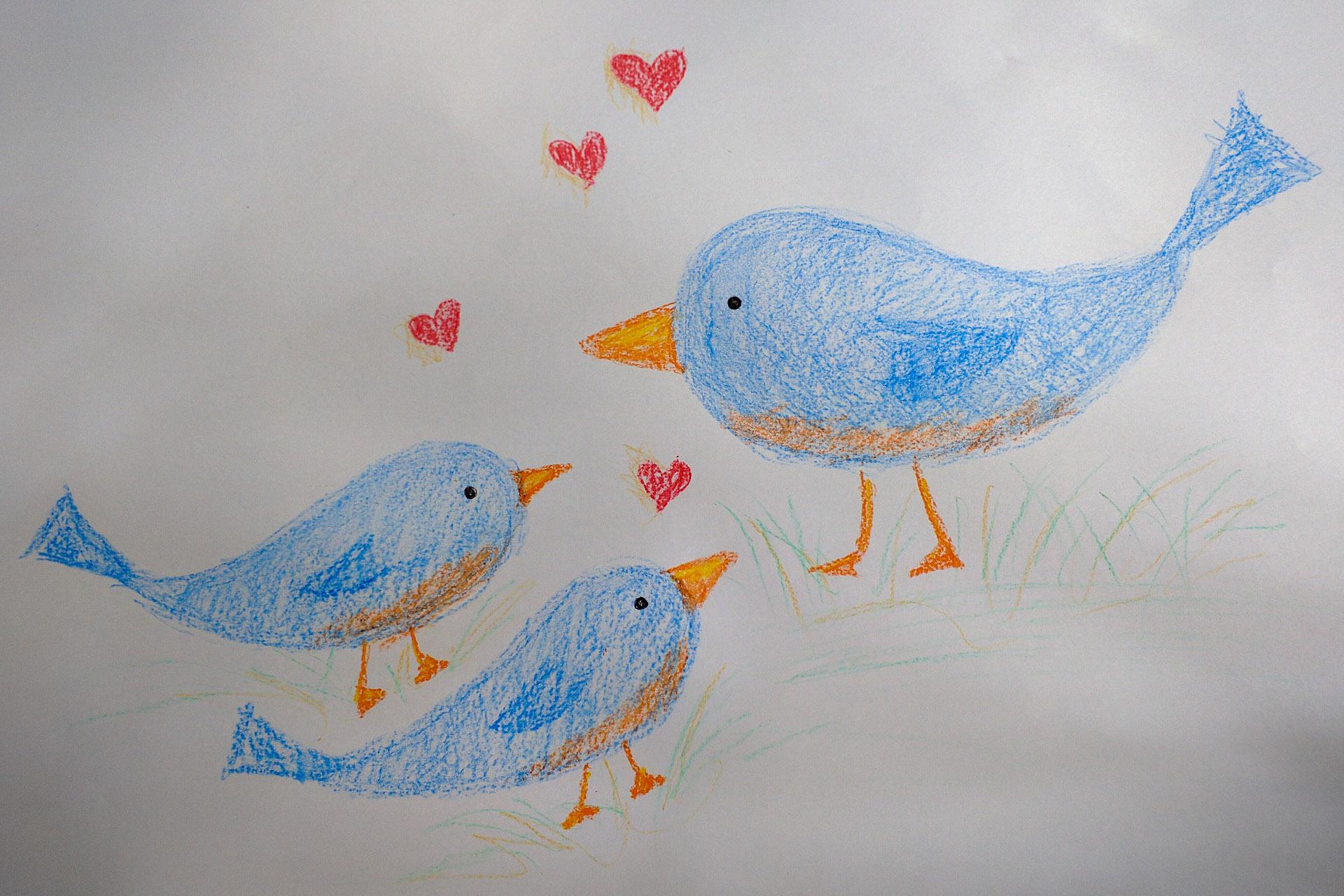Bluebirds for Grandma Chase