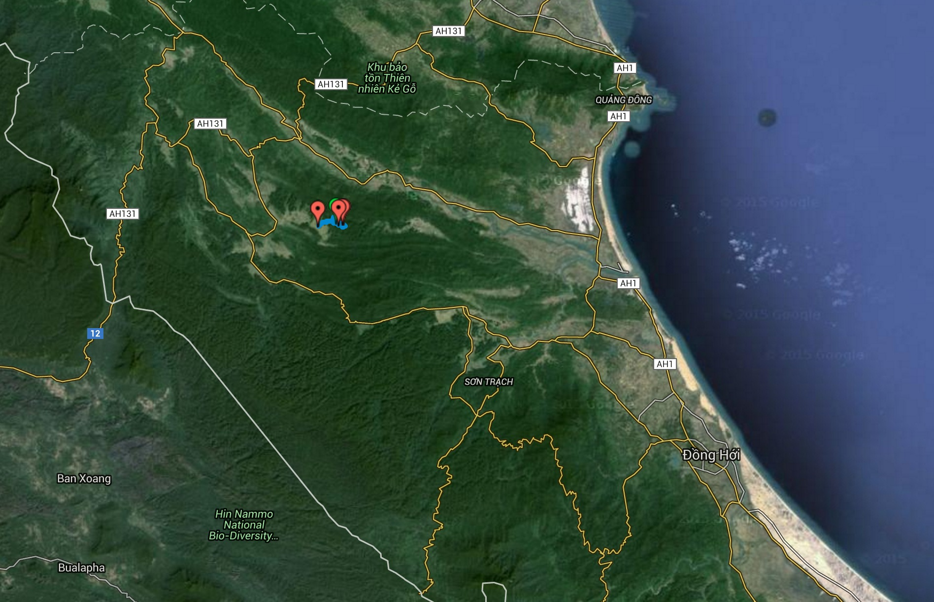 Phong Nha Caving - Satellite (zoomed out)