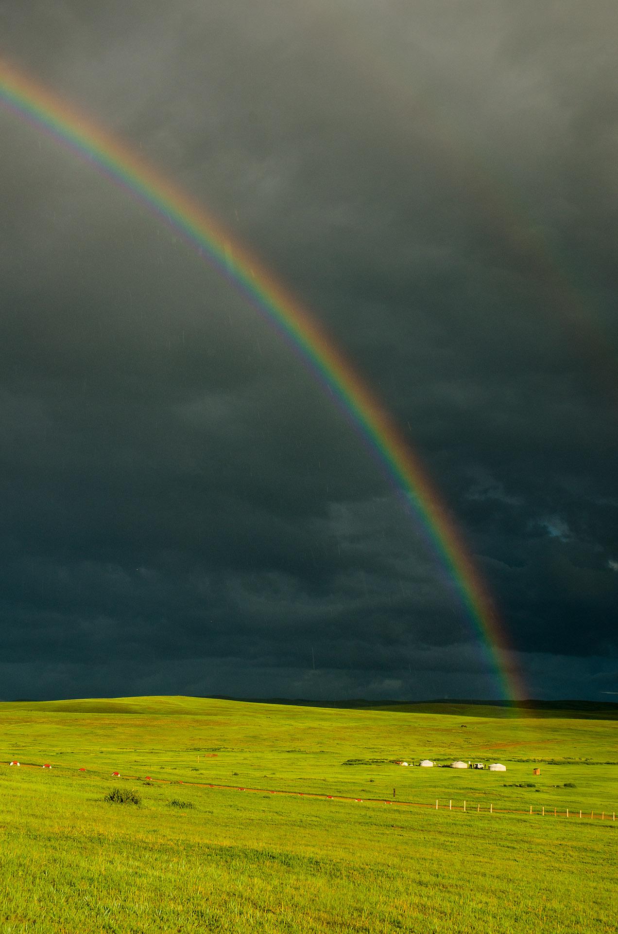 Ogii Lake rainbow