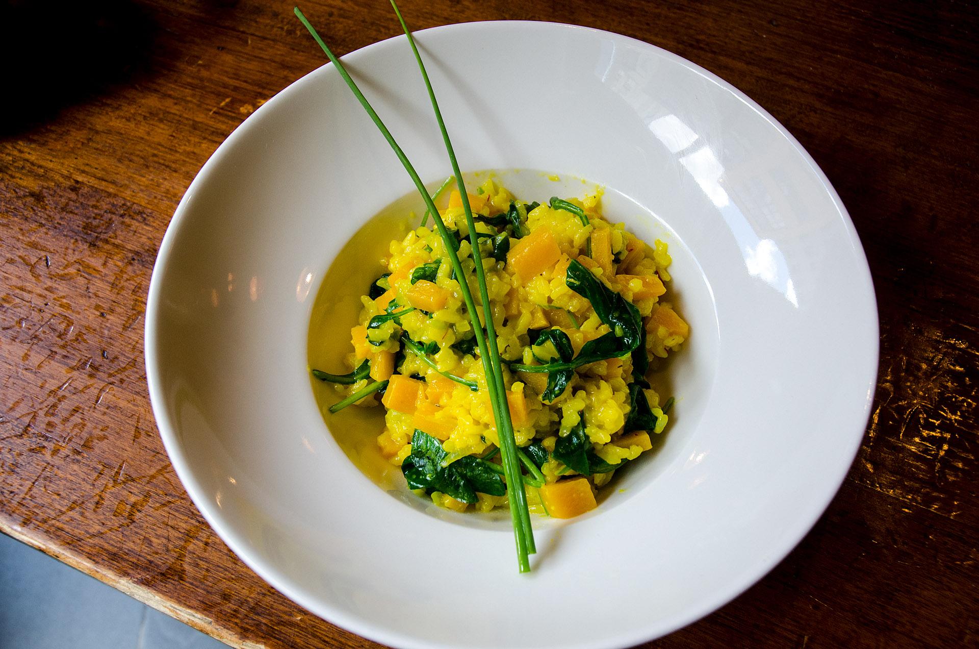 Butternut squash & spinach risotto