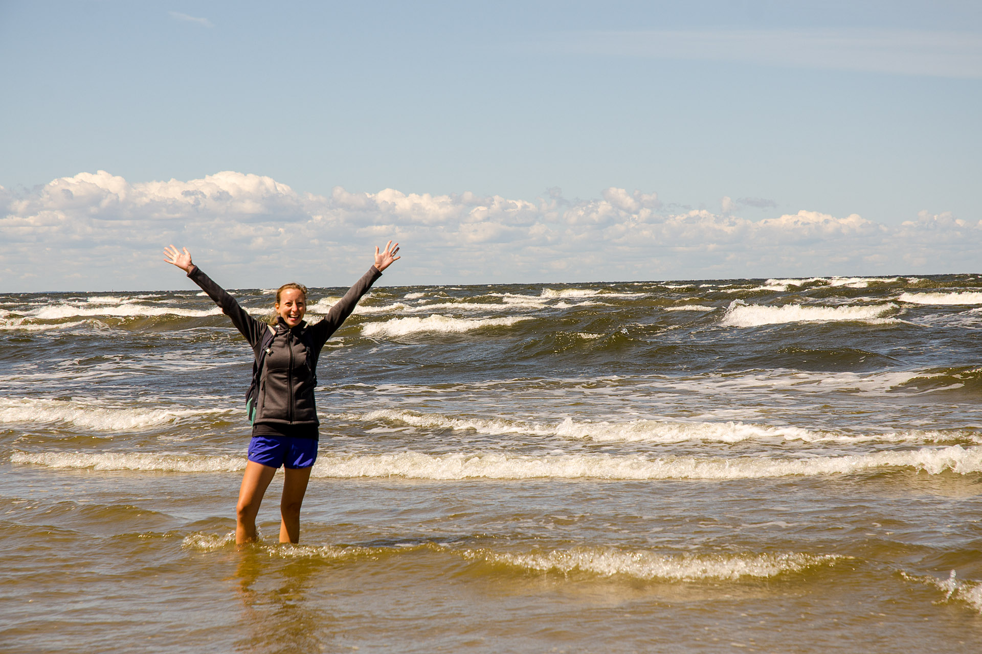 """swimming"" in the Baltic"