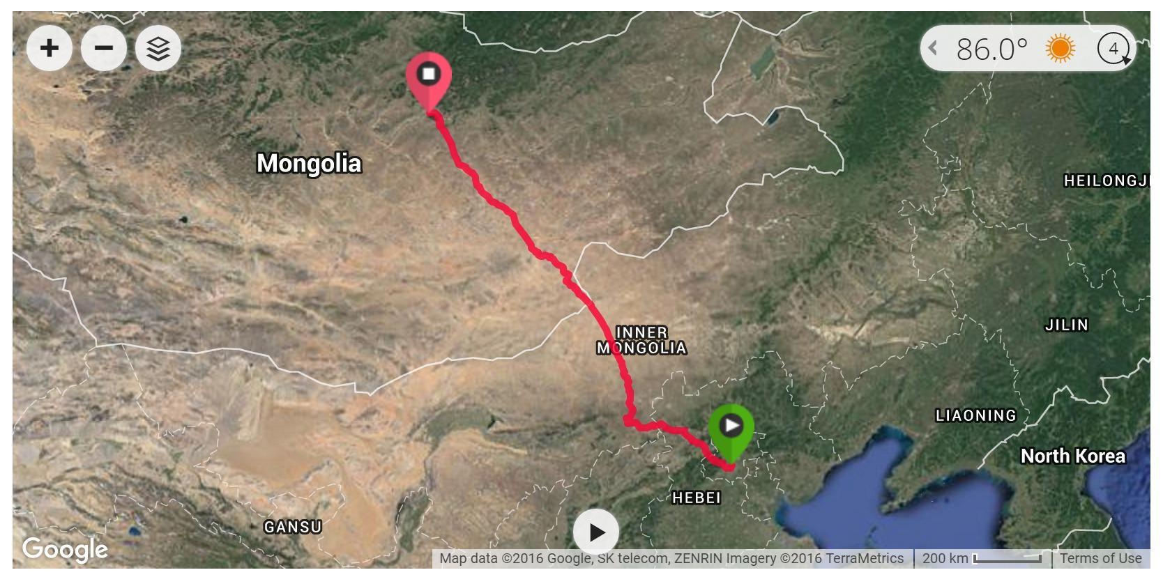 Trans-Mongolian Railway - Satellite
