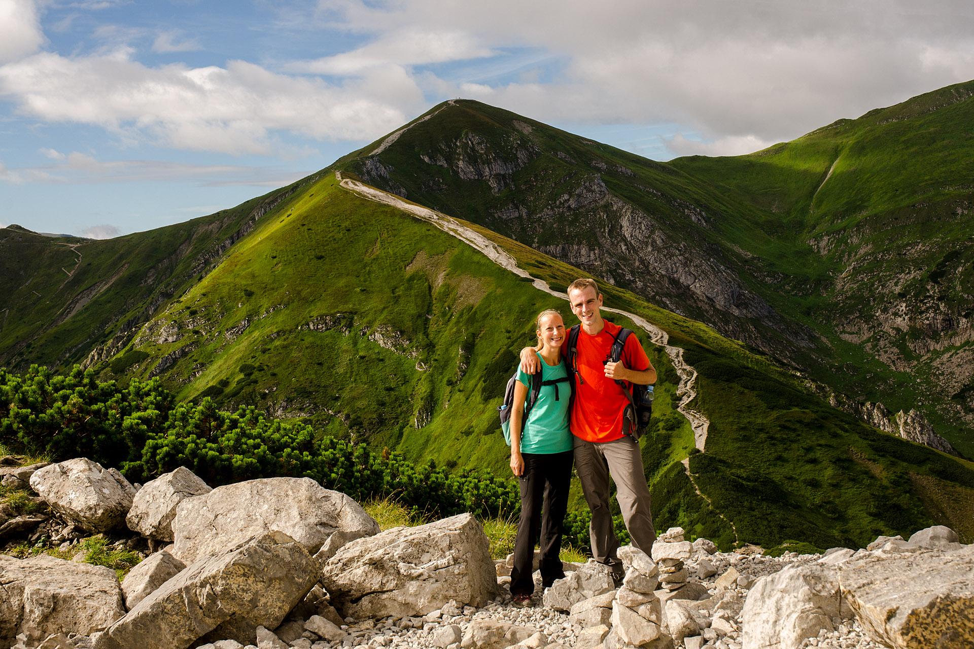 View of Wielkie Szerokie Pass to Kopa Kondracka