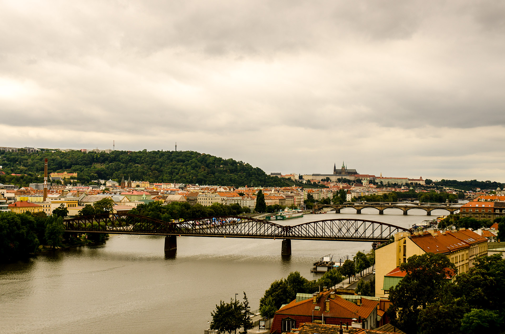 Looking out to Prague Castle