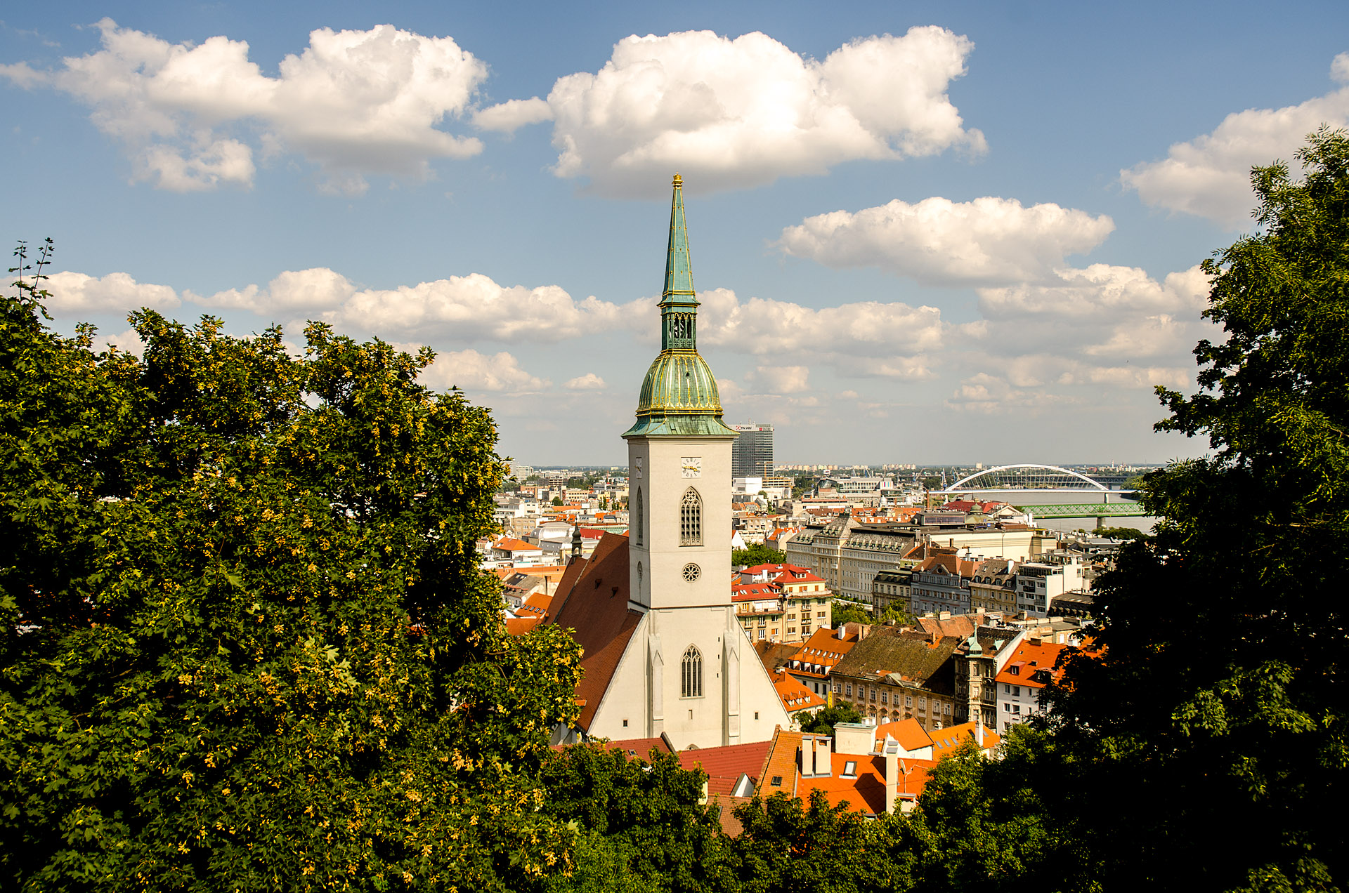 Old Town from Bratislava Castle