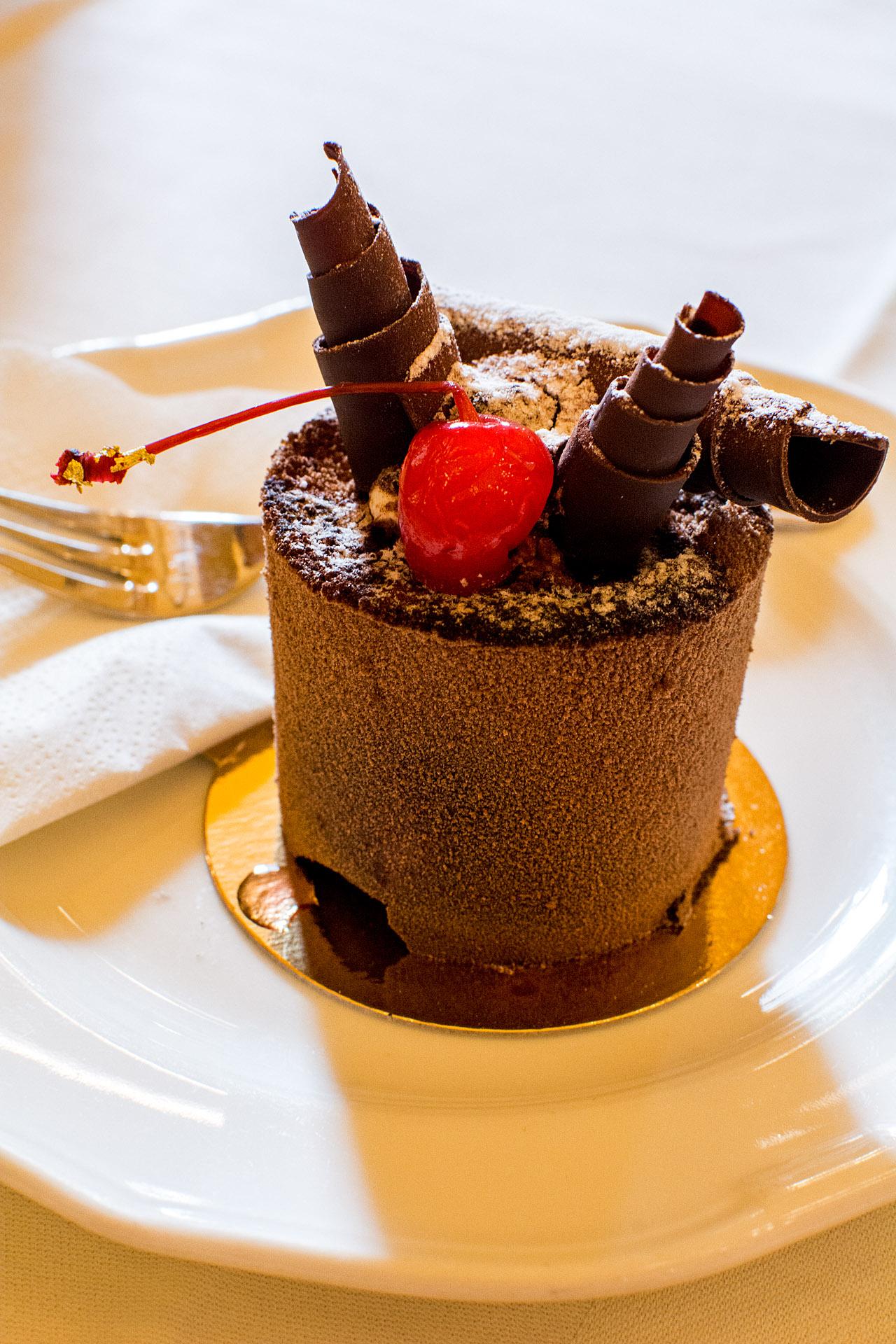 Chocolate cherry mousse