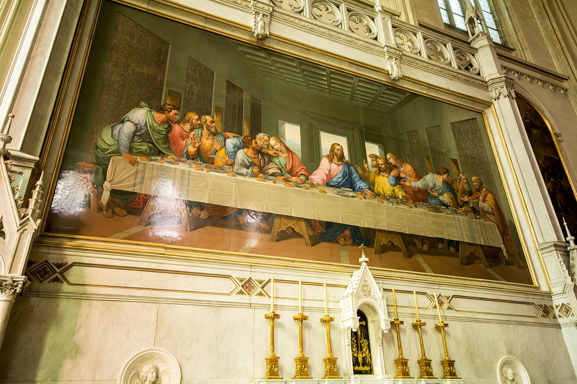Minoritenkirche - Last Supper mosaic