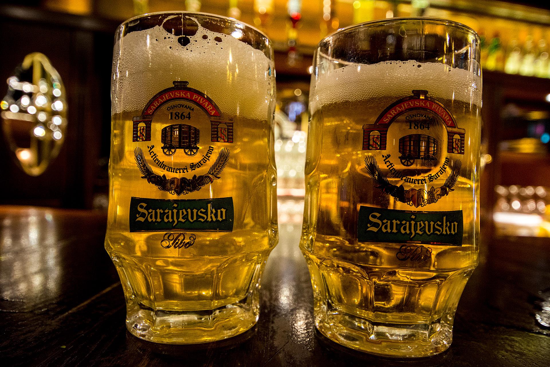 Unfiltered beer & light lager
