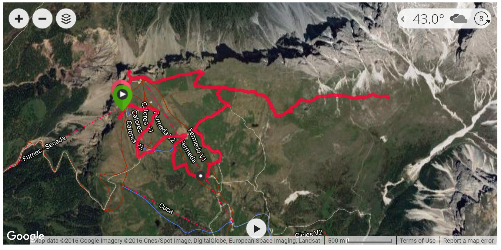 Alpe di Cisles - Satellite