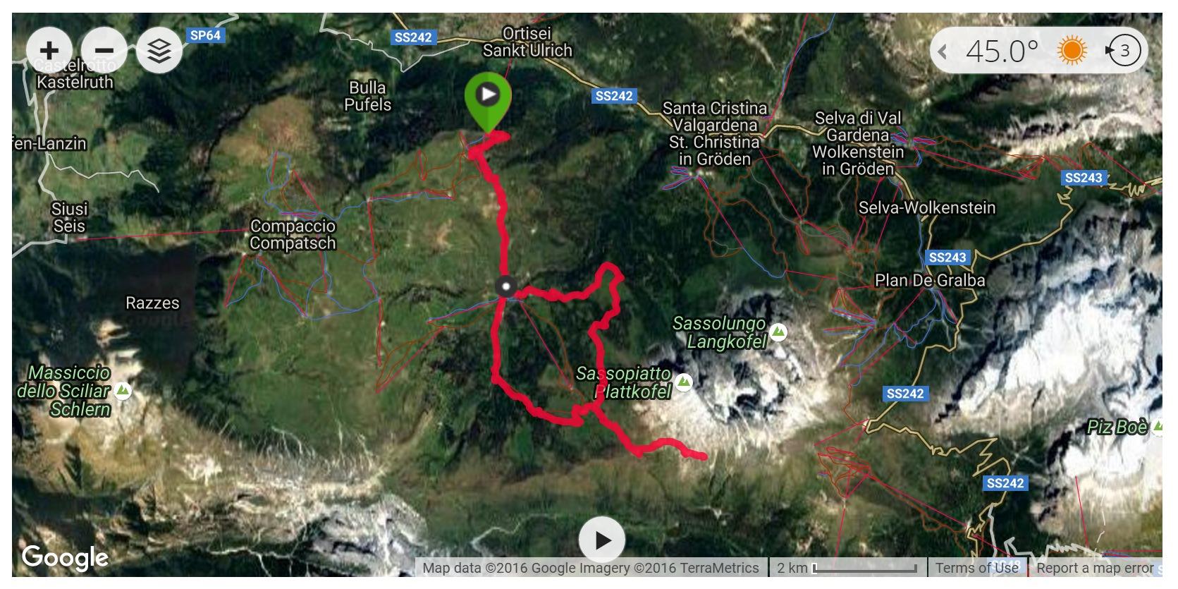Alpe di Siusi - Satellite