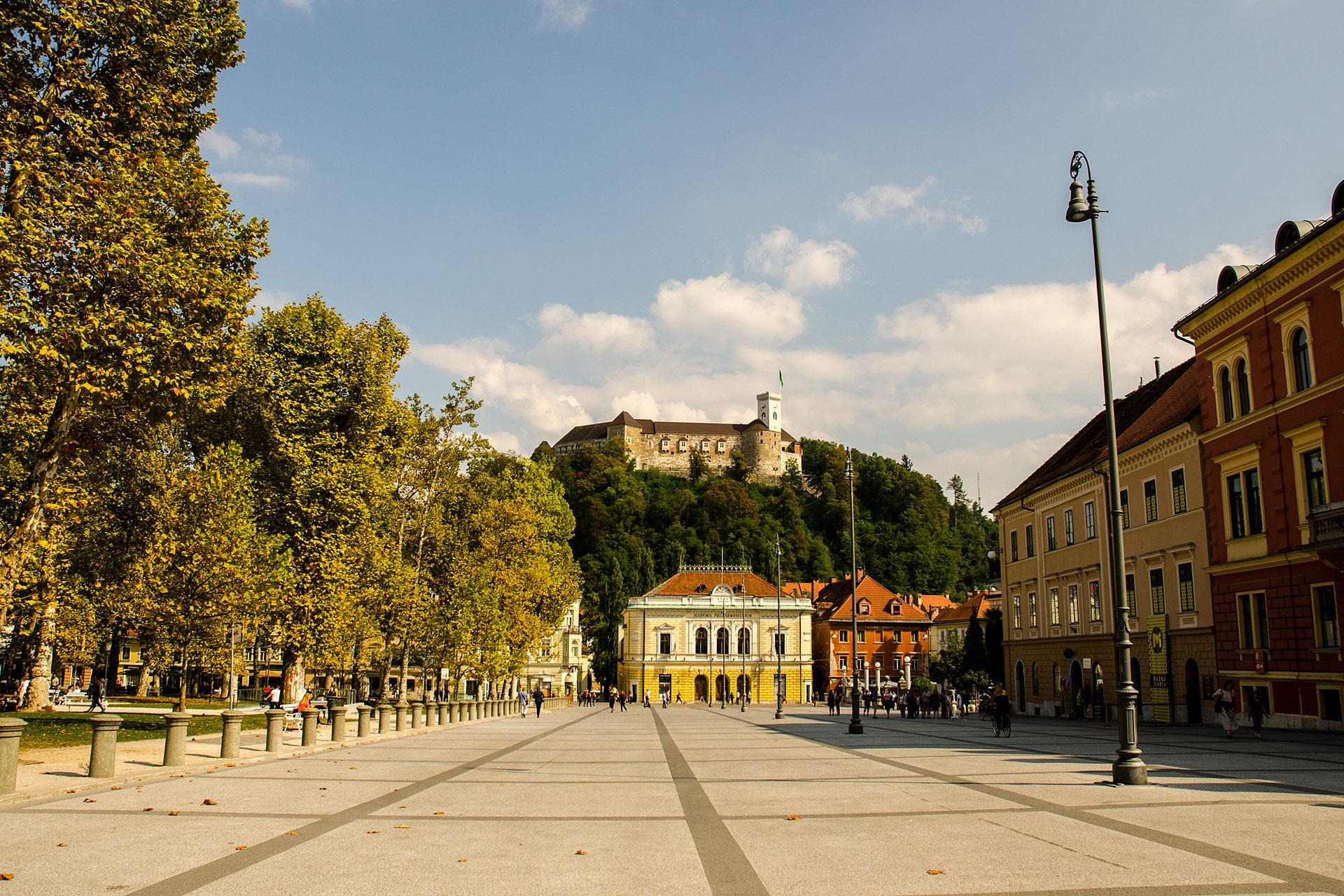 Ljubljana Castle from Zvezda Park