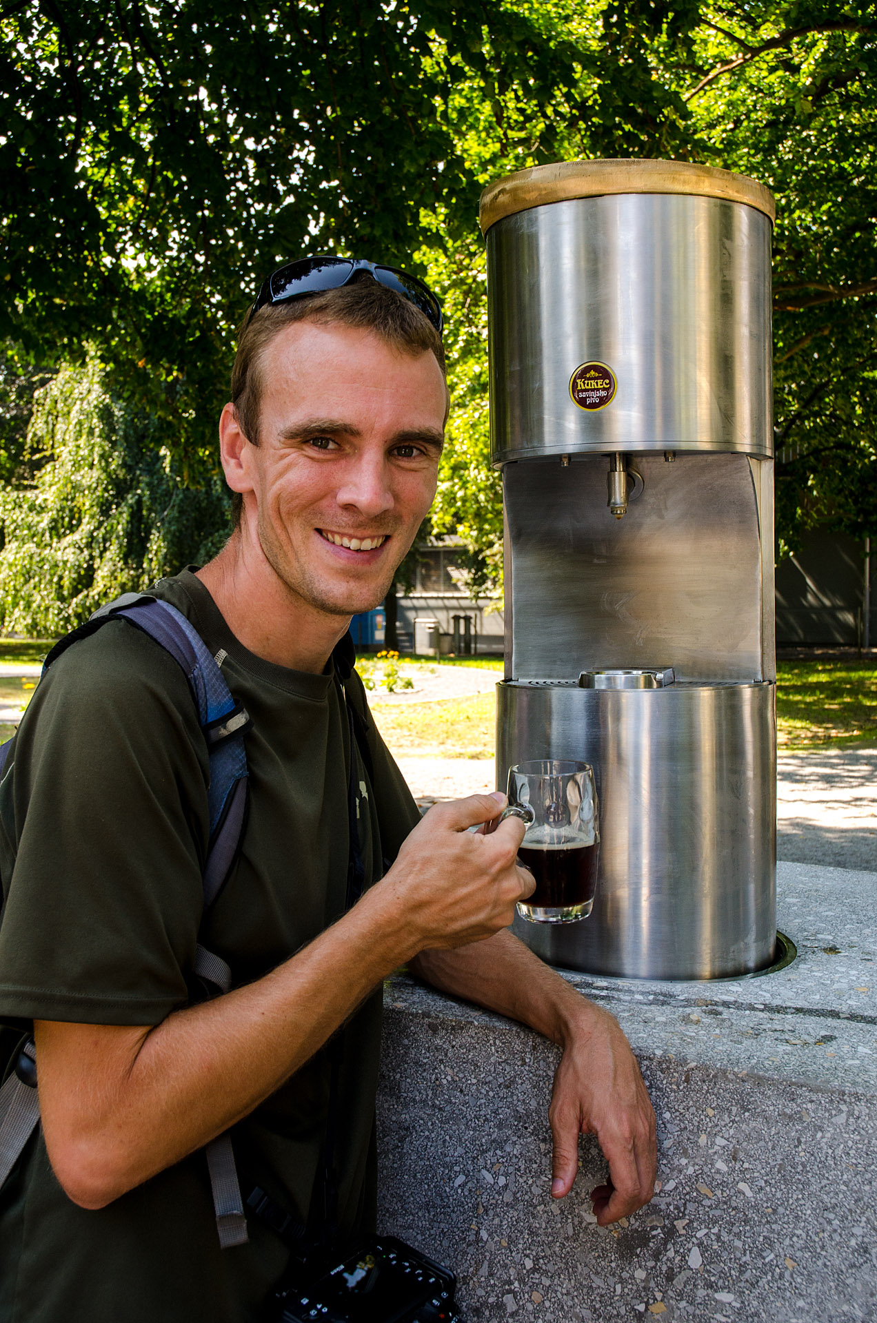 Beer fountain pioneer