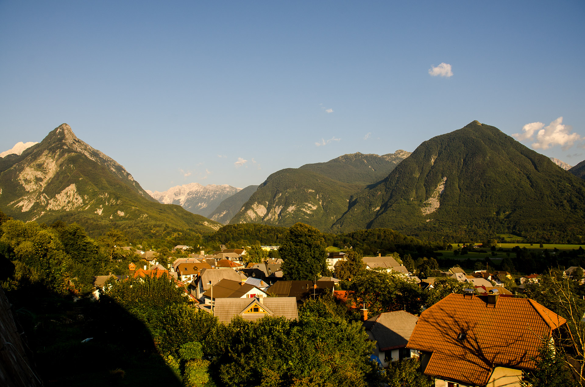View from our studio in Bovec