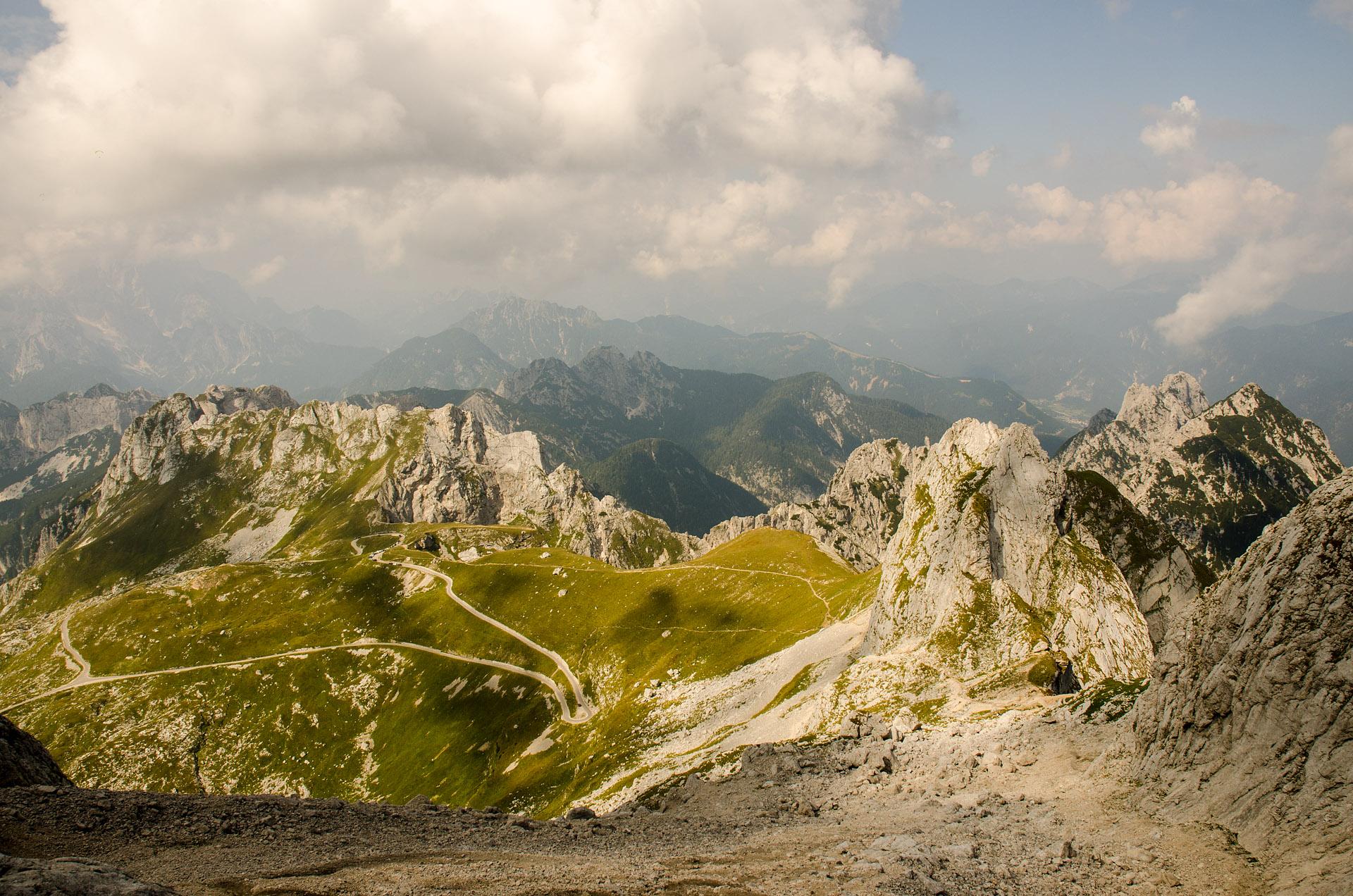 View of Mangart Saddle